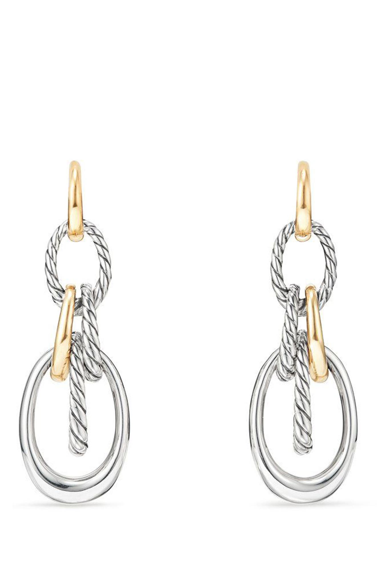Pure Form<sup>®</sup> Drop Earrings,                             Main thumbnail 1, color,                             Gold/ Silver