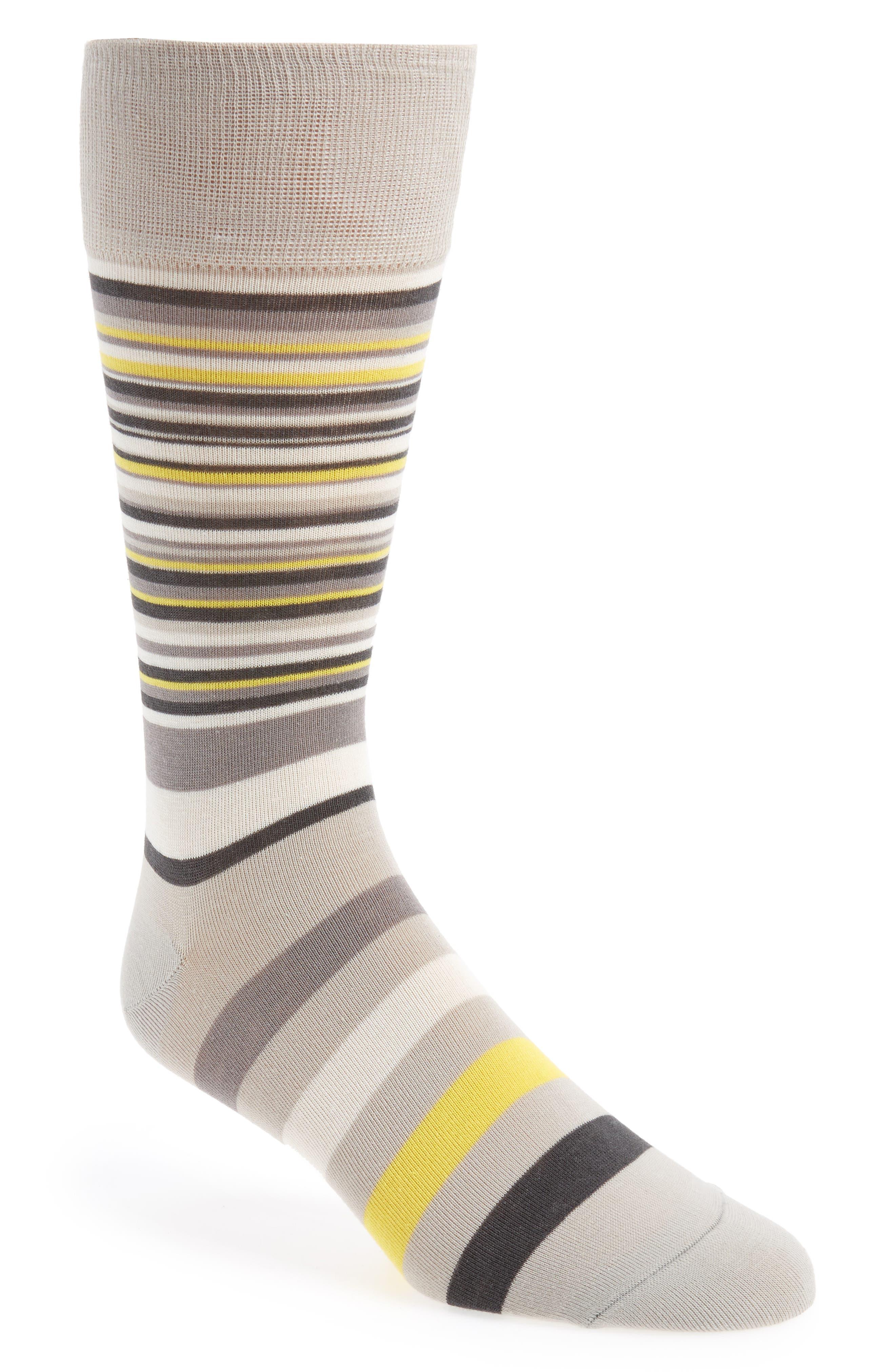 Town Stripe Crew Socks,                             Main thumbnail 1, color,                             Vapor Grey