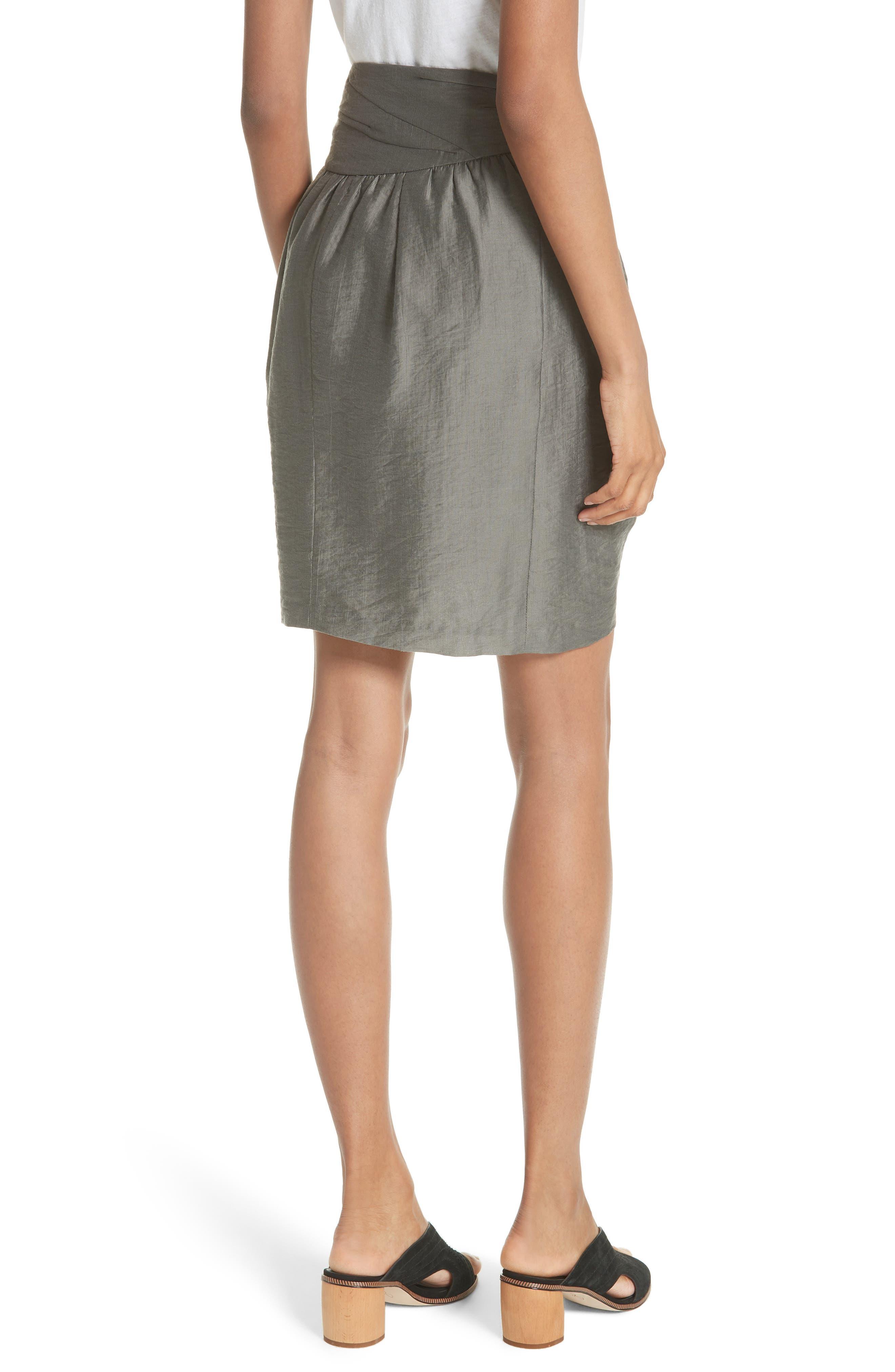 Erlecia Wrap Skirt,                             Alternate thumbnail 2, color,                             Moss