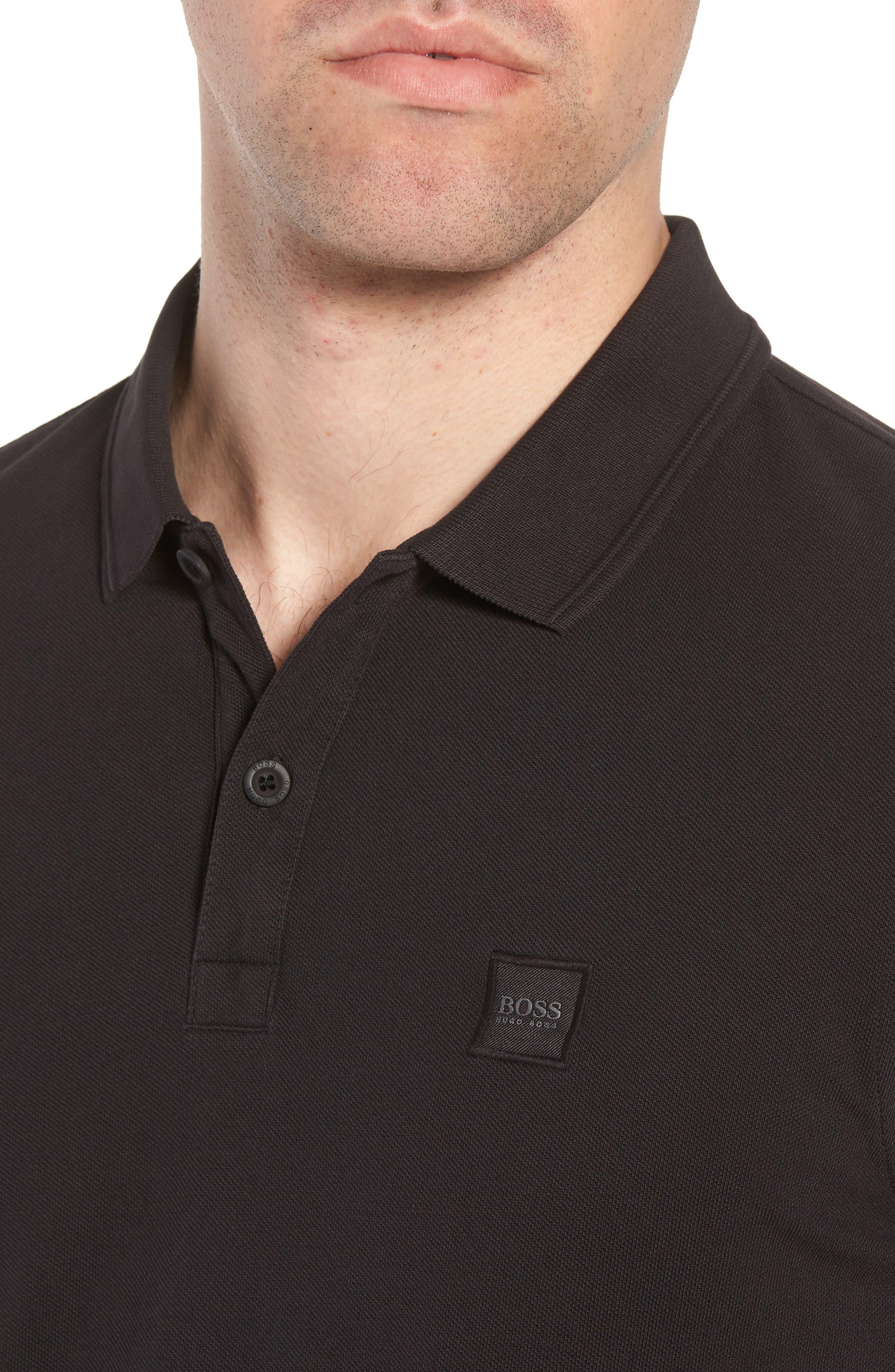 Prime Slim Fit Polo,                             Alternate thumbnail 4, color,                             Black