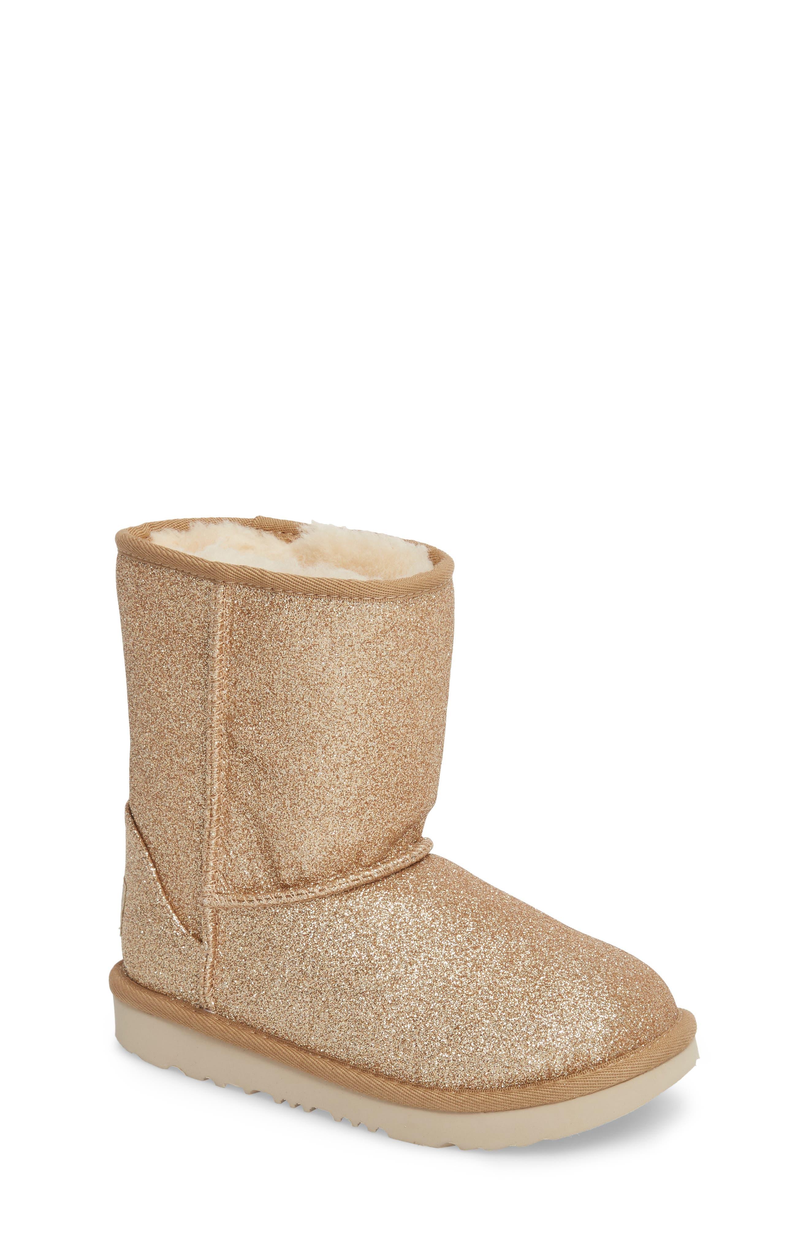 UGG® Classic Short II Glitter Boot (Walker, Toddler, Little Kid & Big Kid)