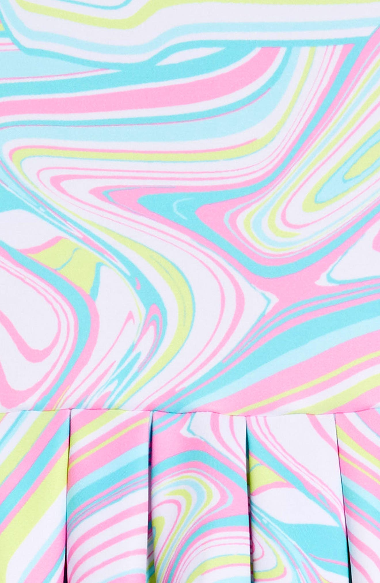 Scuba Skater Dress,                             Alternate thumbnail 3, color,                             Multi