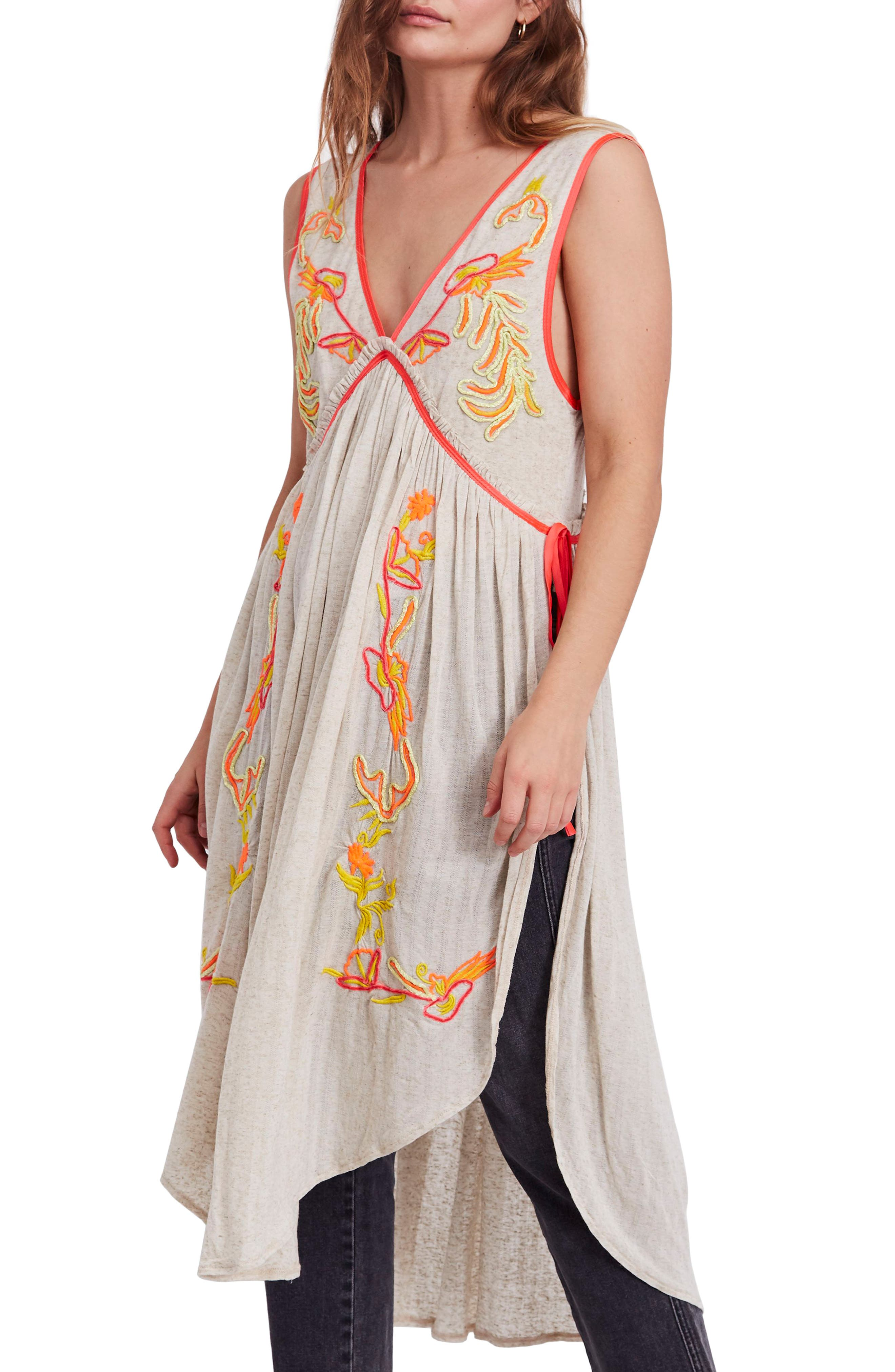 Free People Summer Lovin' Embroidered Tunic