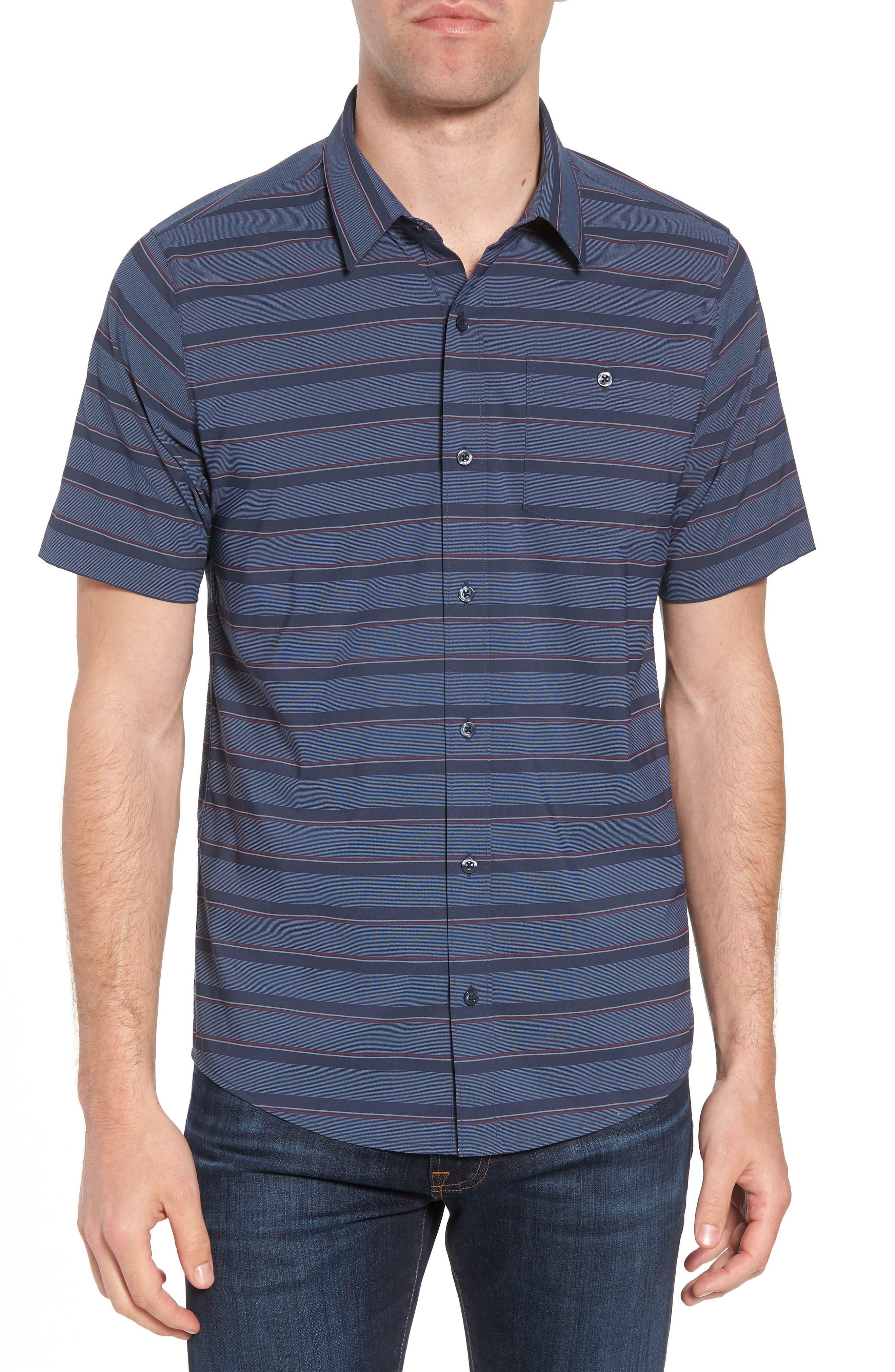 Quiver Regular Fit Sport Shirt,                         Main,                         color, Blue Nights