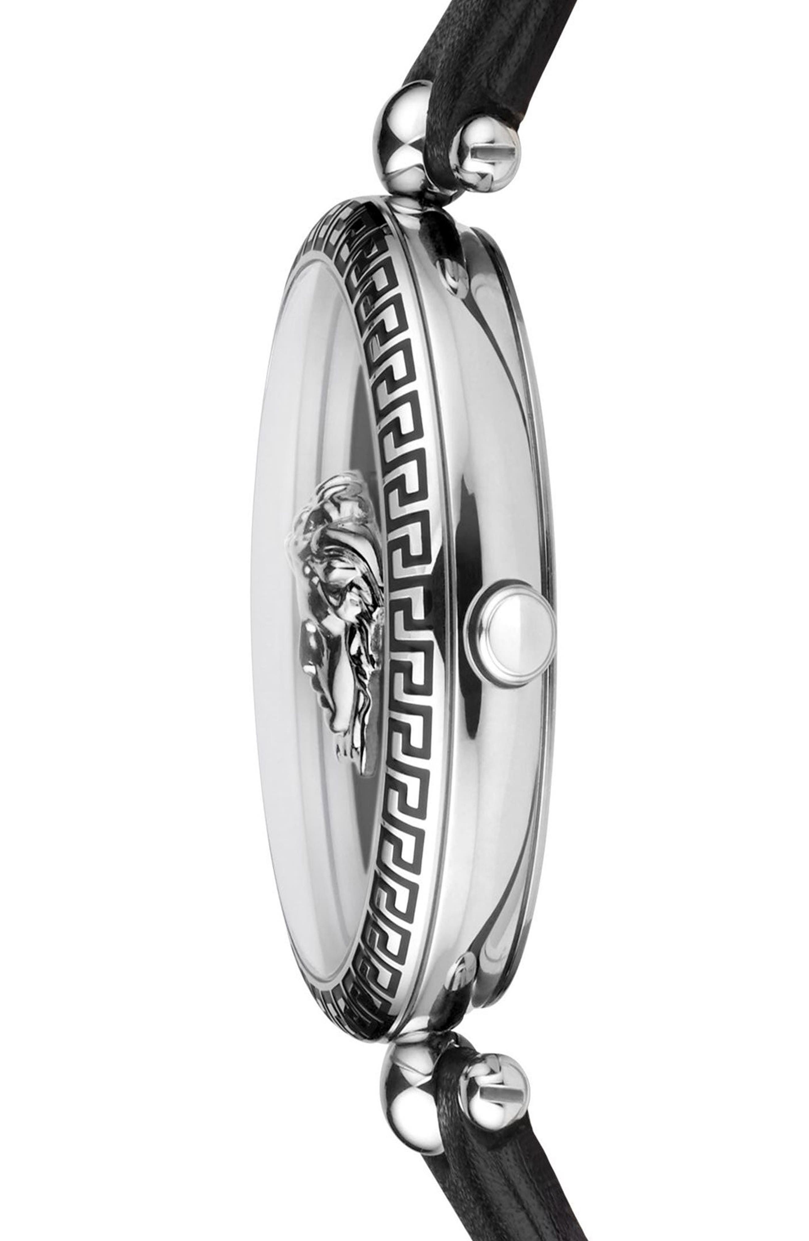 Alternate Image 3  - Versace Palazzo Empire Leather Strap Watch, 39mm