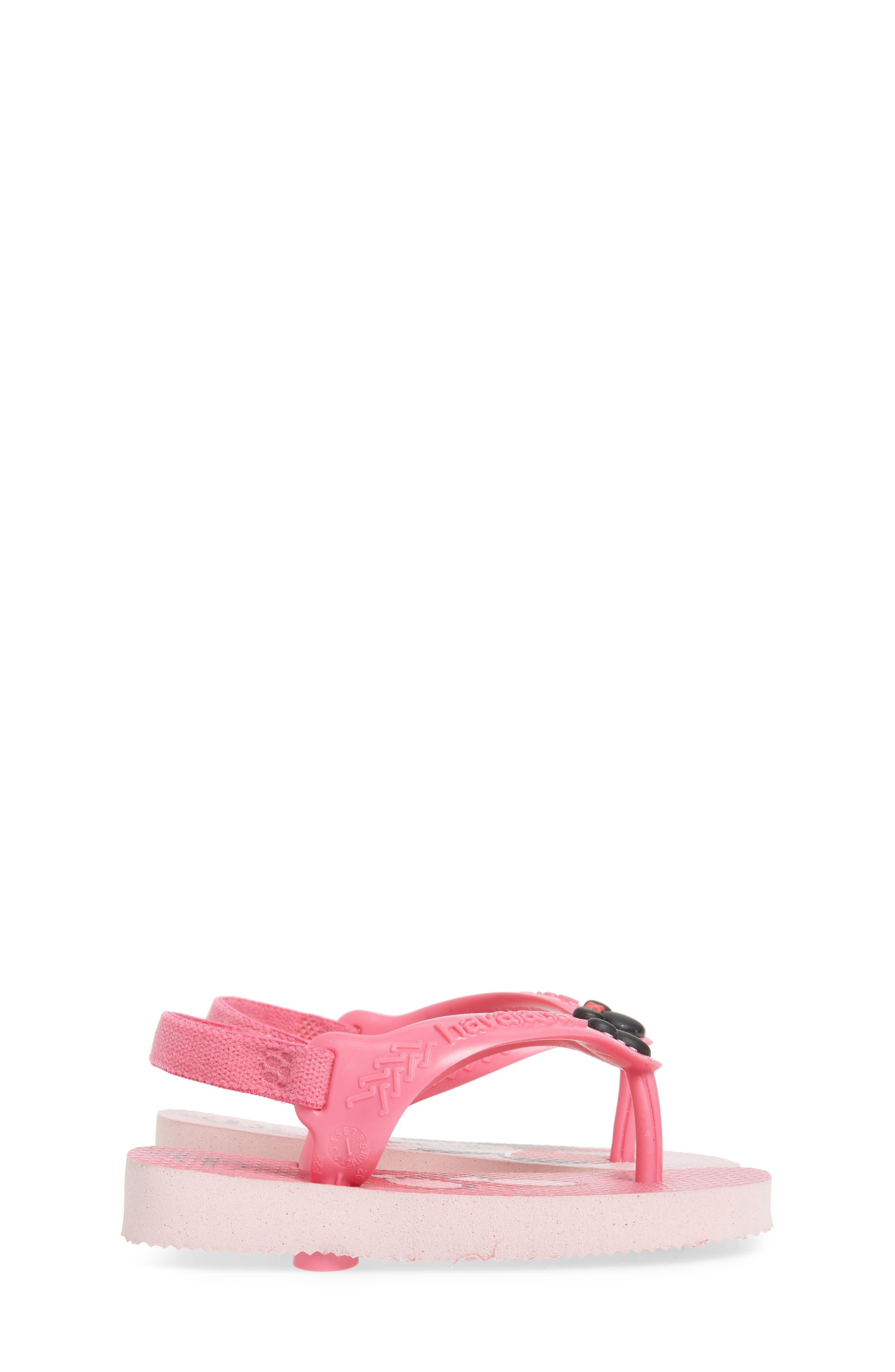 Baby Disney Classics Flip Flop,                             Alternate thumbnail 4, color,                             Pearl Pink