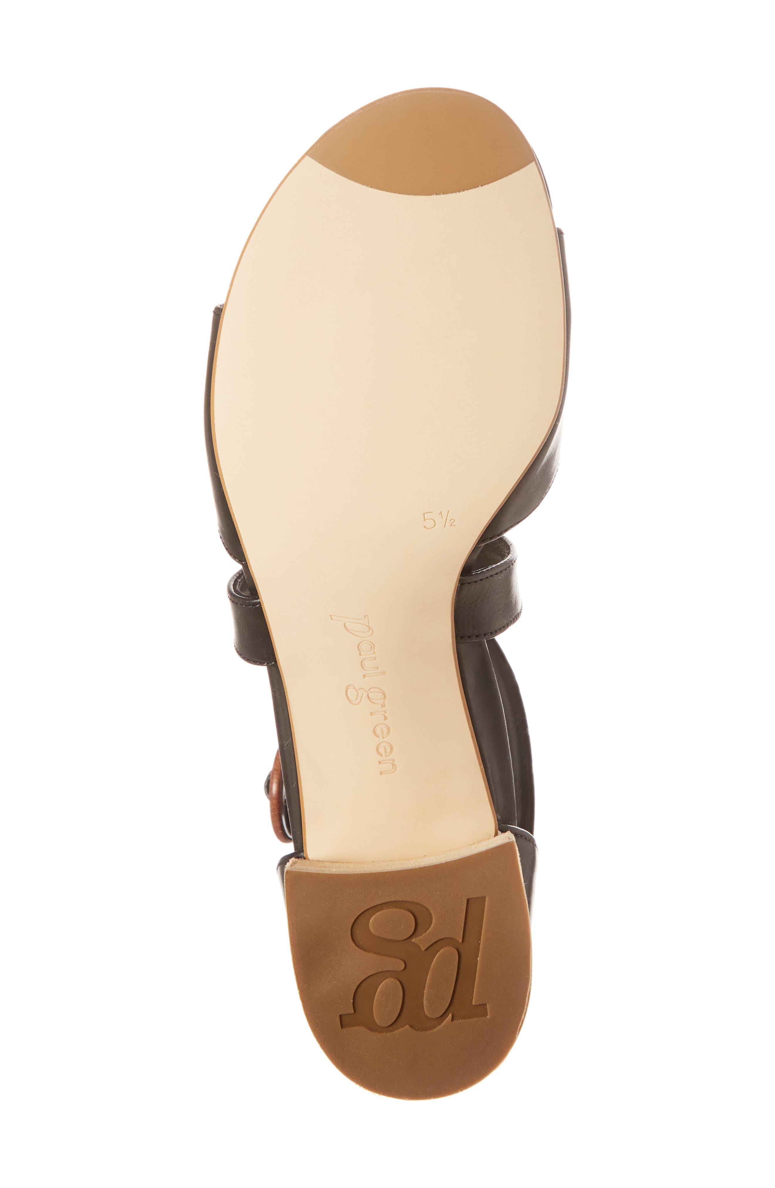 Sally Quarter Strap Sandal,                             Alternate thumbnail 6, color,                             Black Leather