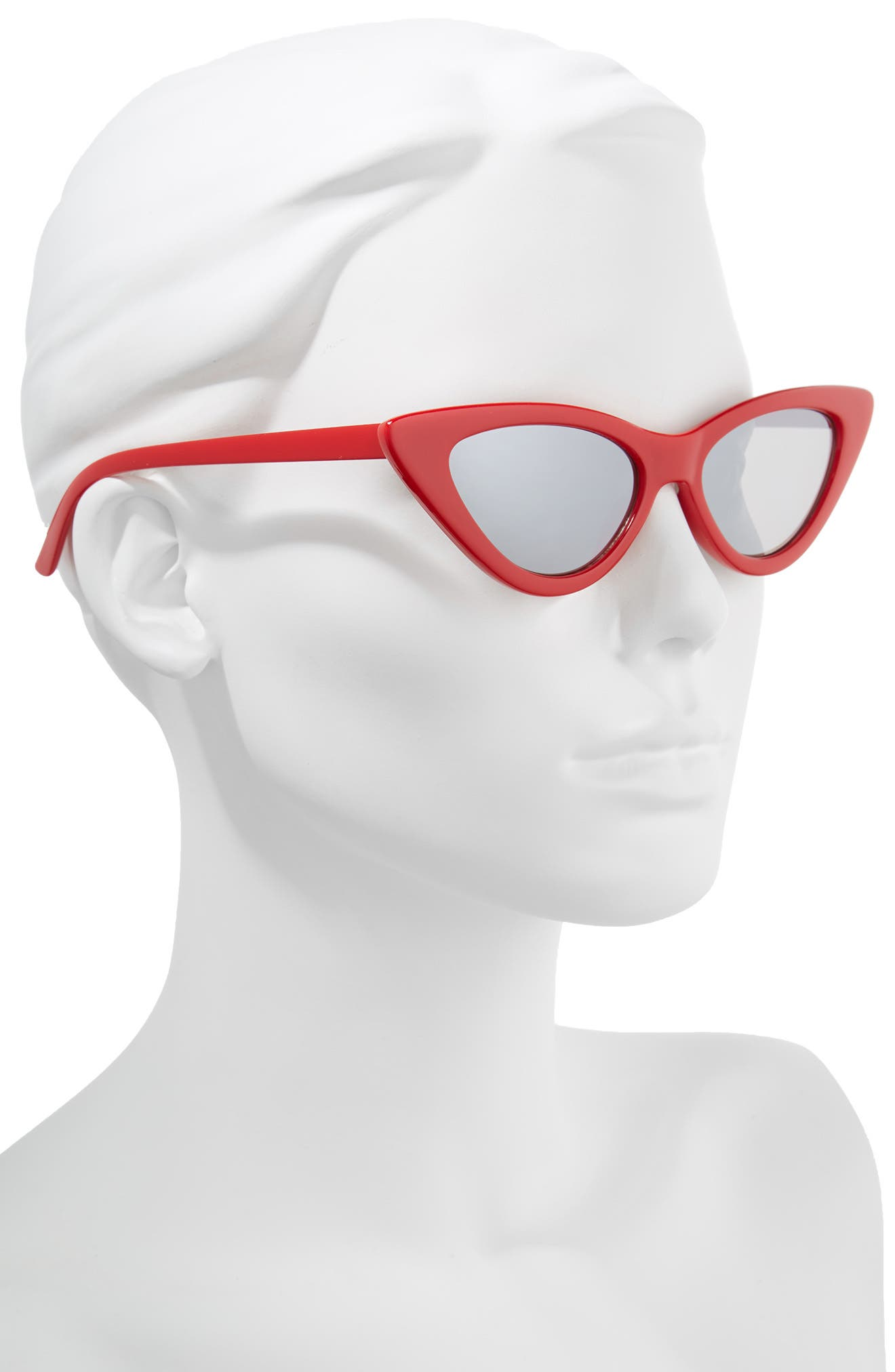 62mm Cat Eye Sunglasses,                             Alternate thumbnail 2, color,                             Red/ Silver