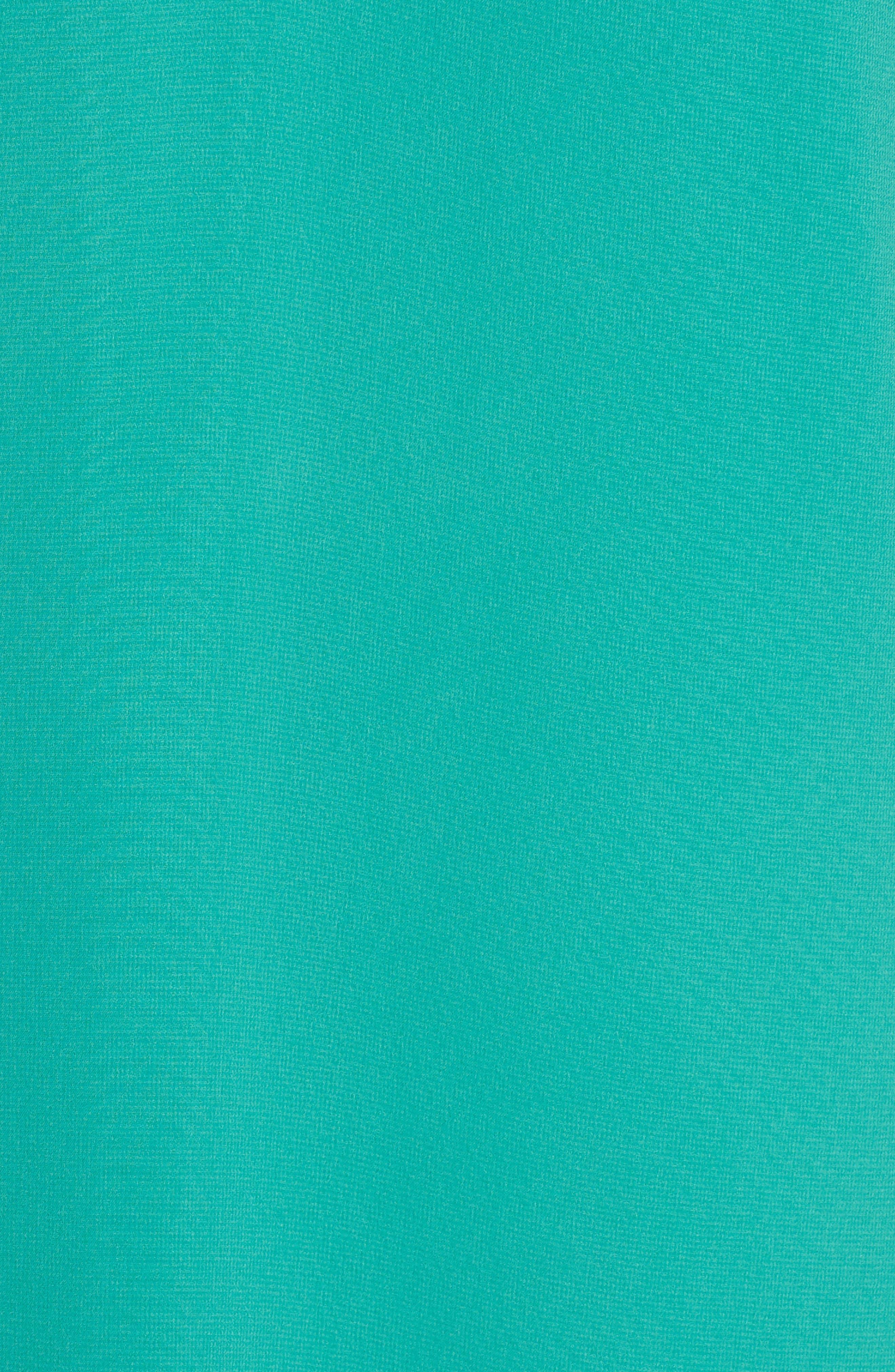 Pleat Sleeve Shift Dress,                             Alternate thumbnail 6, color,                             Green