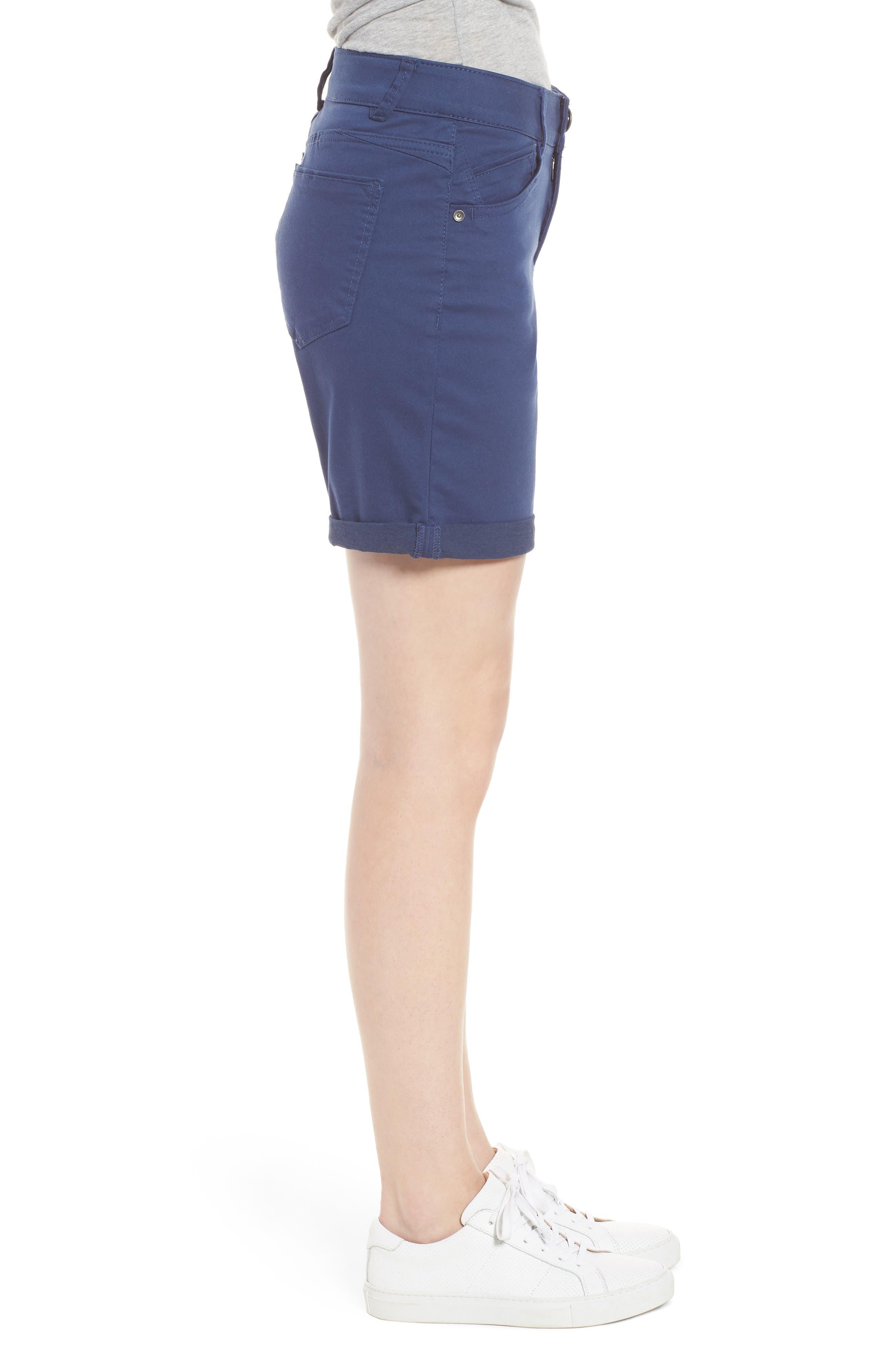Ab-Solution Stretch Cotton Shorts,                             Alternate thumbnail 3, color,                             Coastal Blue