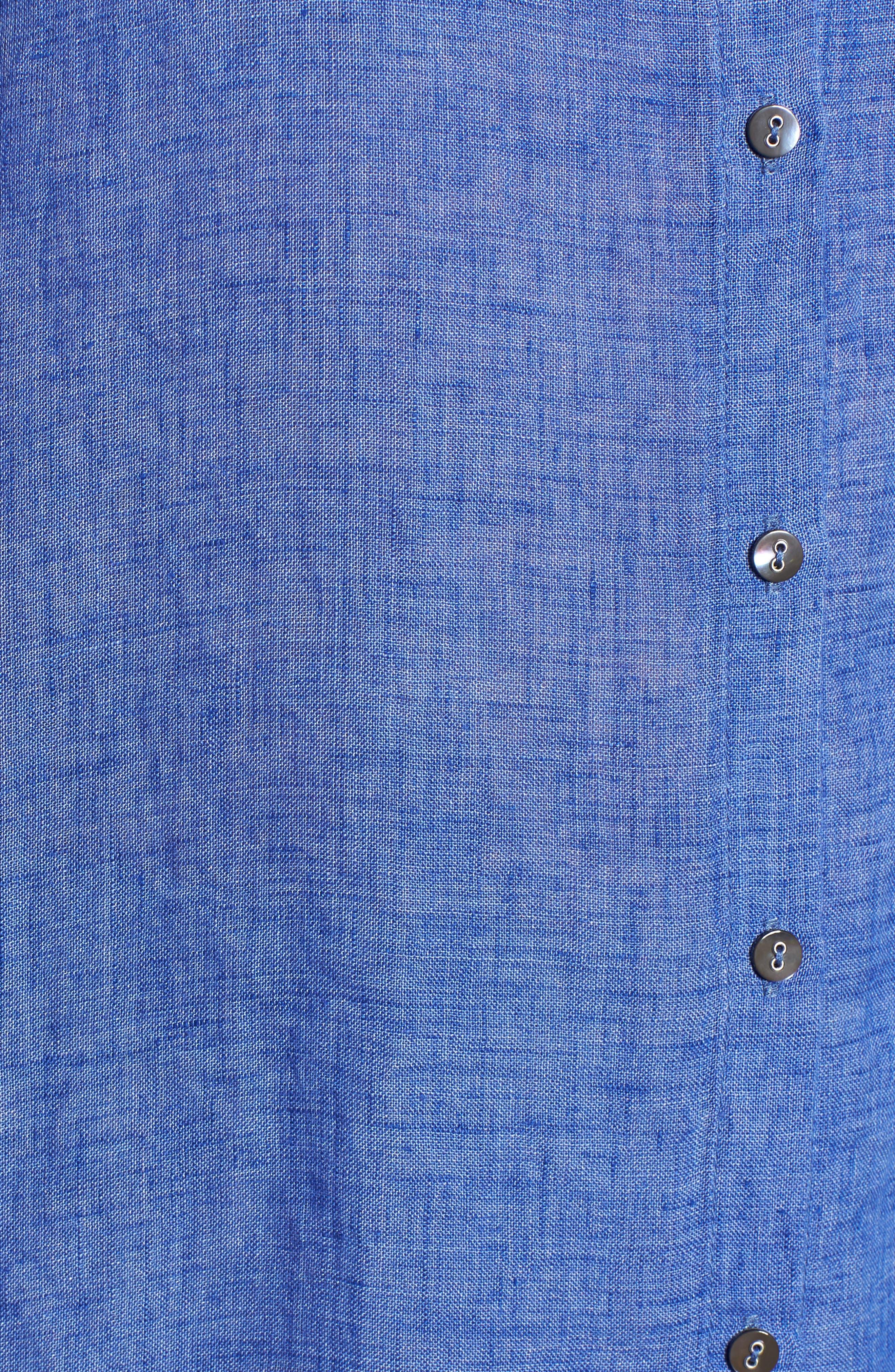 Joy Ride Linen Tunic Top,                             Alternate thumbnail 5, color,                             Ultramarine