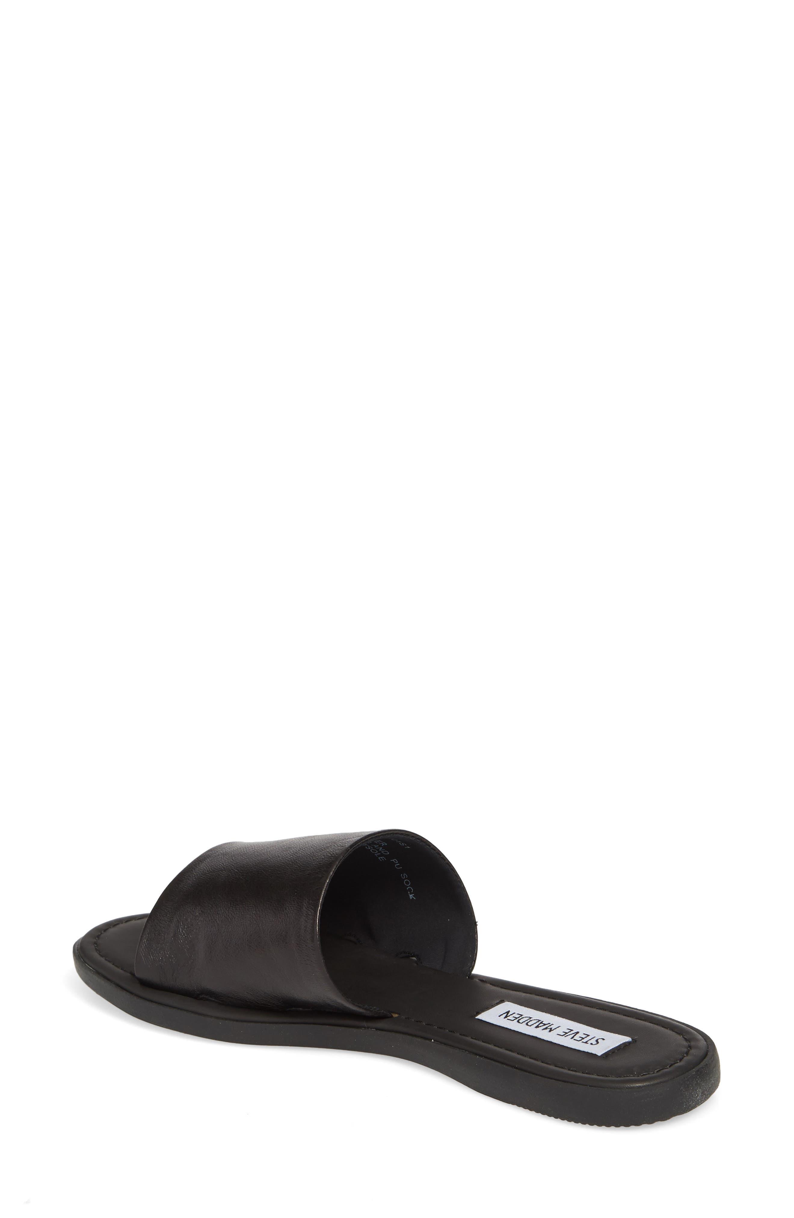 Camilla Slide Sandal,                             Alternate thumbnail 2, color,                             Black Leather