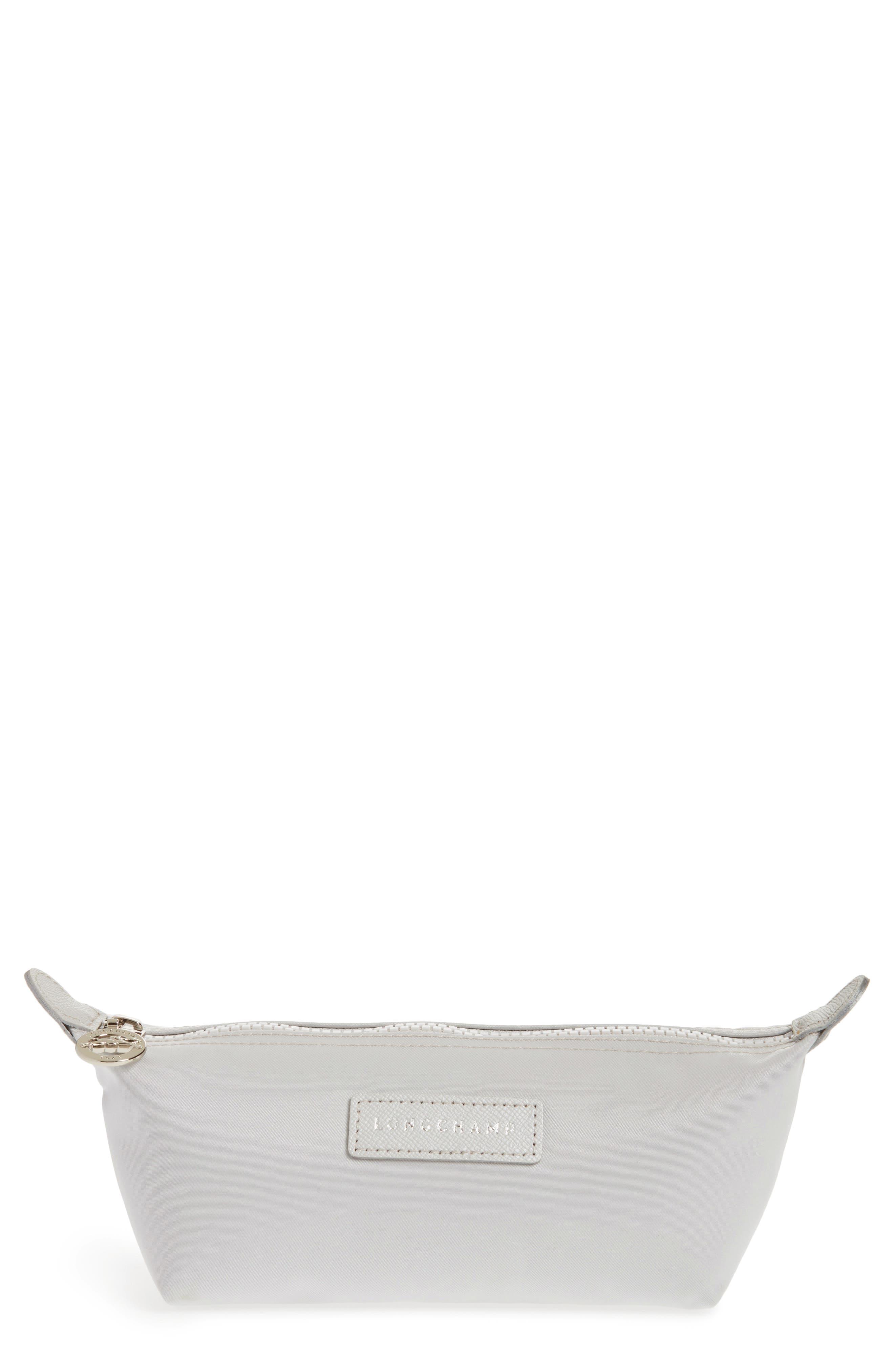 'Neo' Nylon Cosmetics Bag, Silver