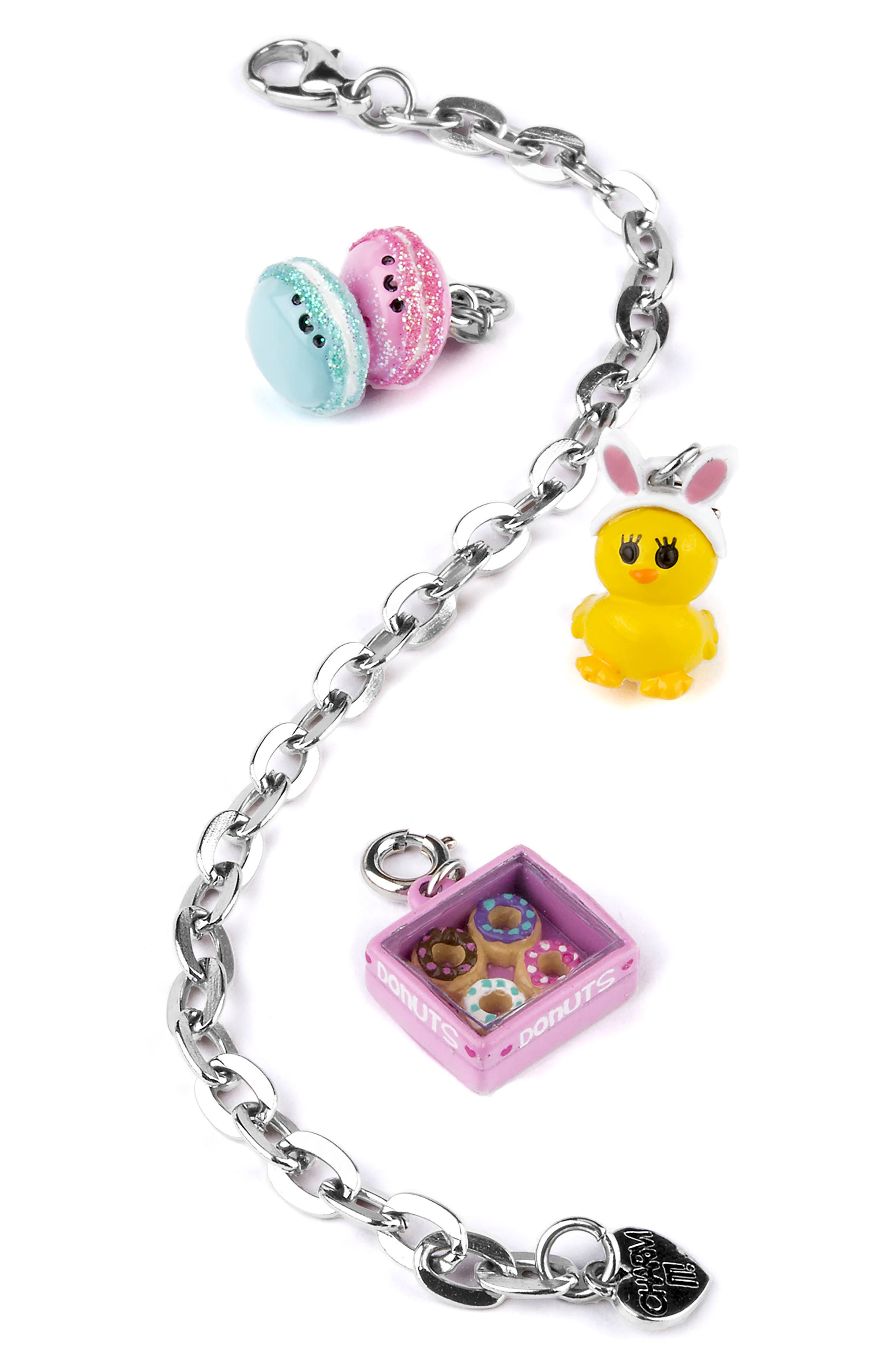 CHARM IT!<sup>®</sup> Easter Sweets Charm Bracelet Gift Set,                             Main thumbnail 1, color,                             Multi