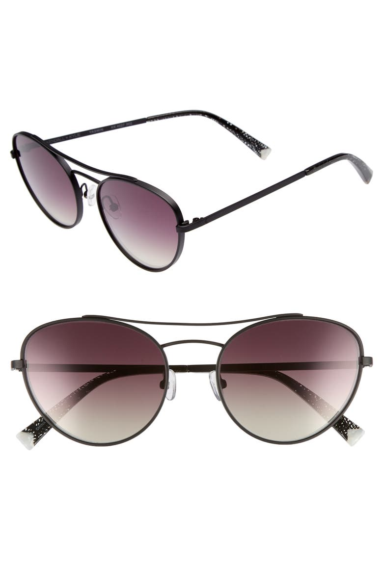 4f4a59c229f KENDALL + KYLIE YASMIN 55MM AVIATOR SUNGLASSES - BLACK  BROWN  GOLD GRADIENT