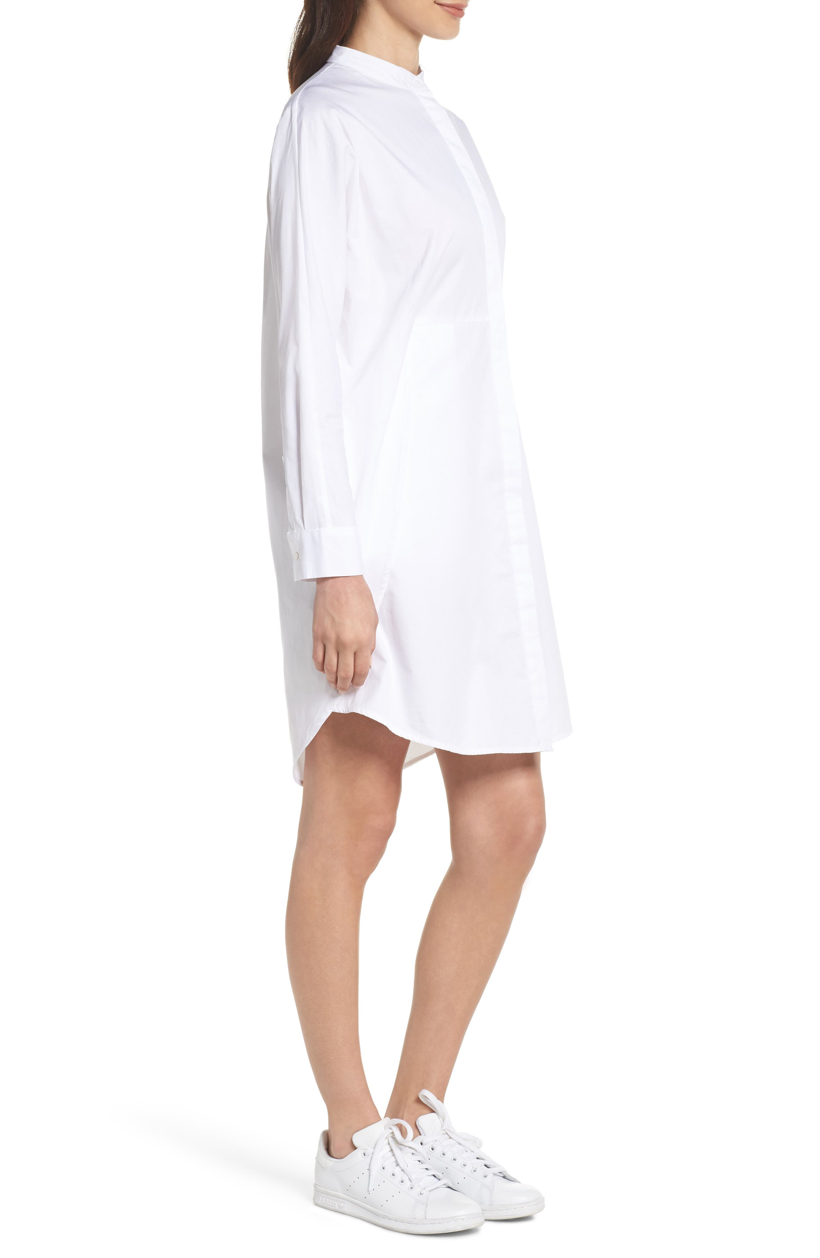 Boyfriend Shirtdress,                             Alternate thumbnail 3, color,                             White