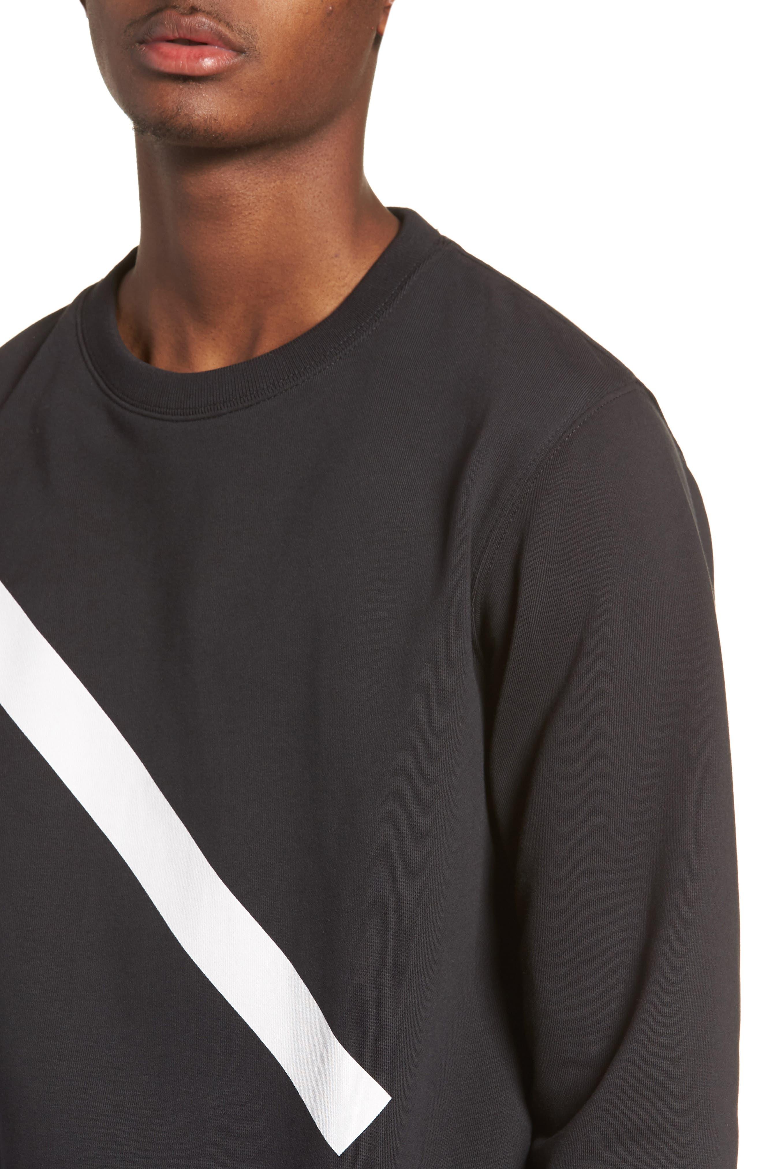 Bowery Slash Sweatshirt,                             Alternate thumbnail 4, color,                             Black