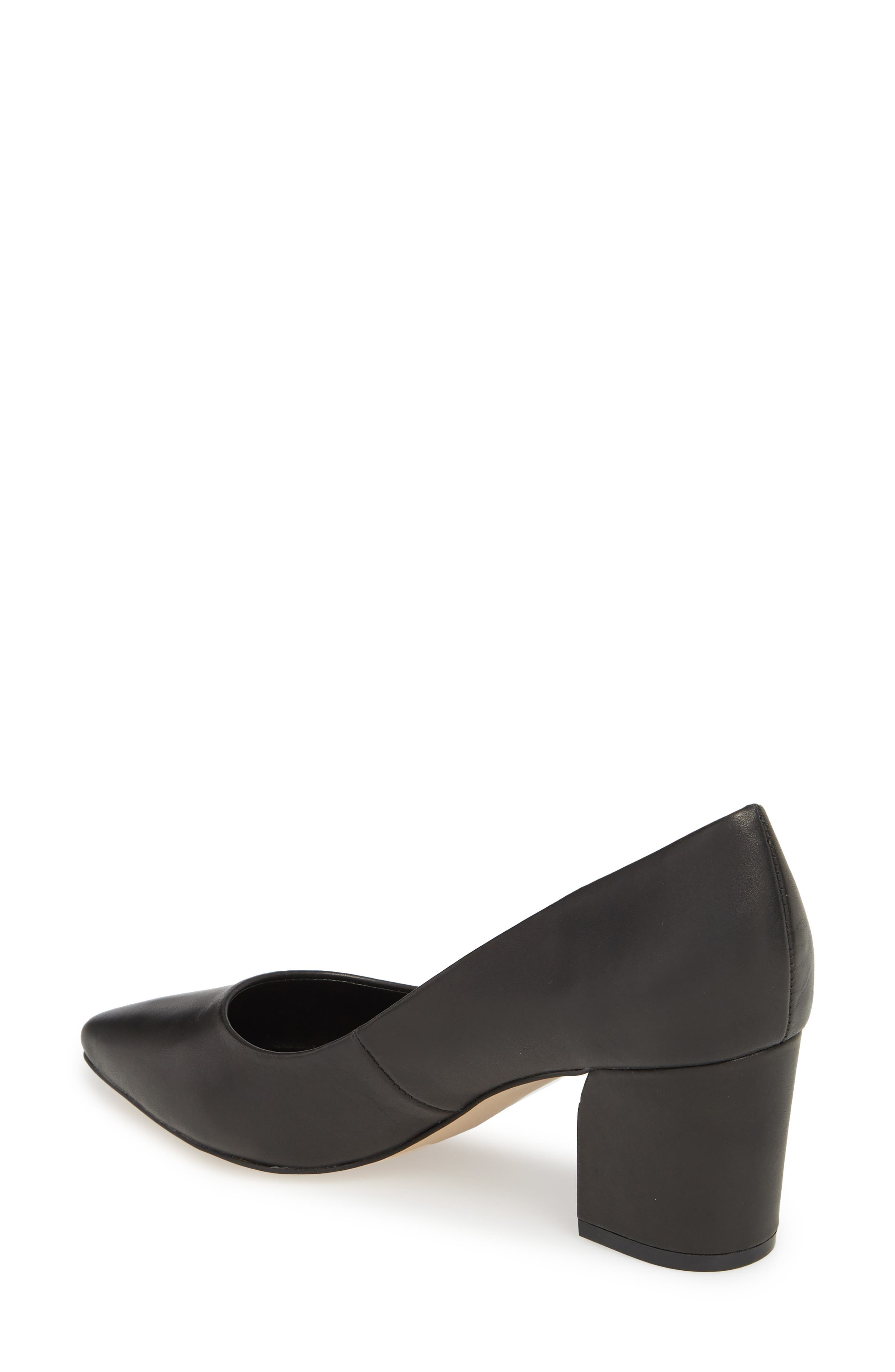 Haven Block Heel Pump,                             Alternate thumbnail 2, color,                             Black Leather