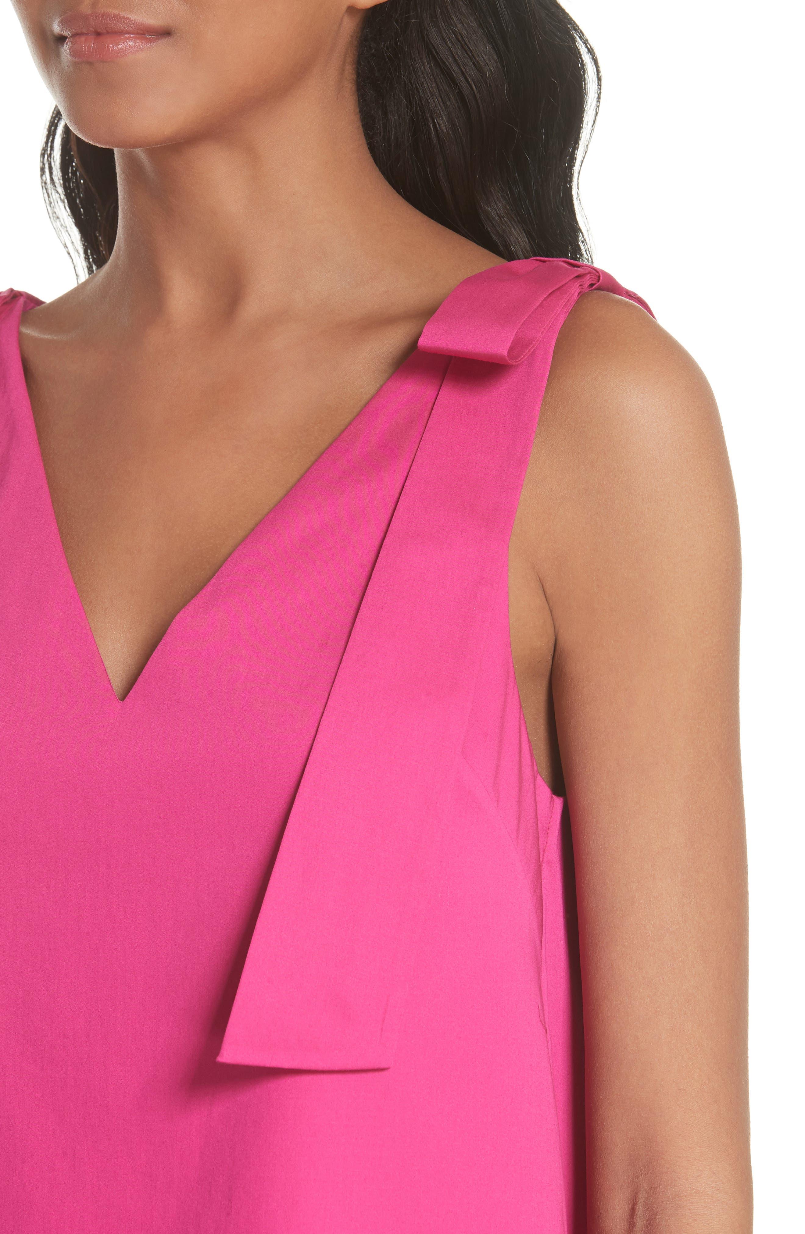 Daynaa Bow Shoulder Top,                             Alternate thumbnail 4, color,                             Fuchsia