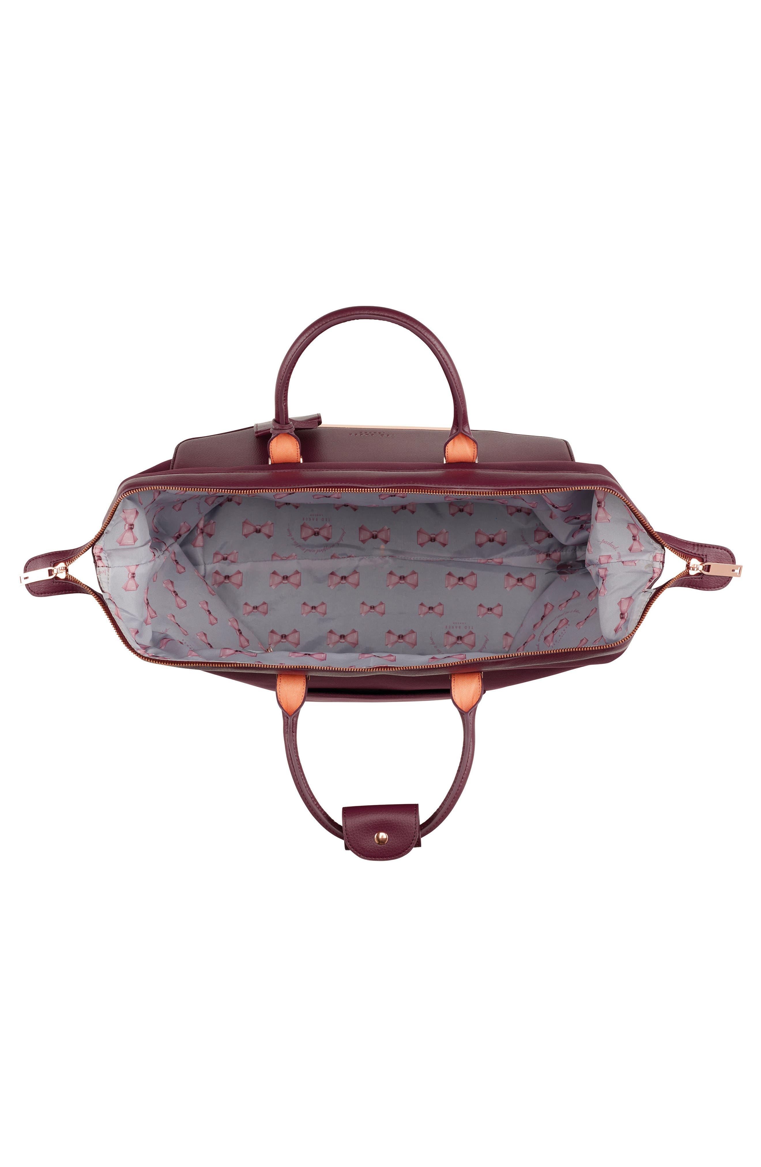 Small Clipper Duffel Bag,                             Alternate thumbnail 3, color,                             Burgundy