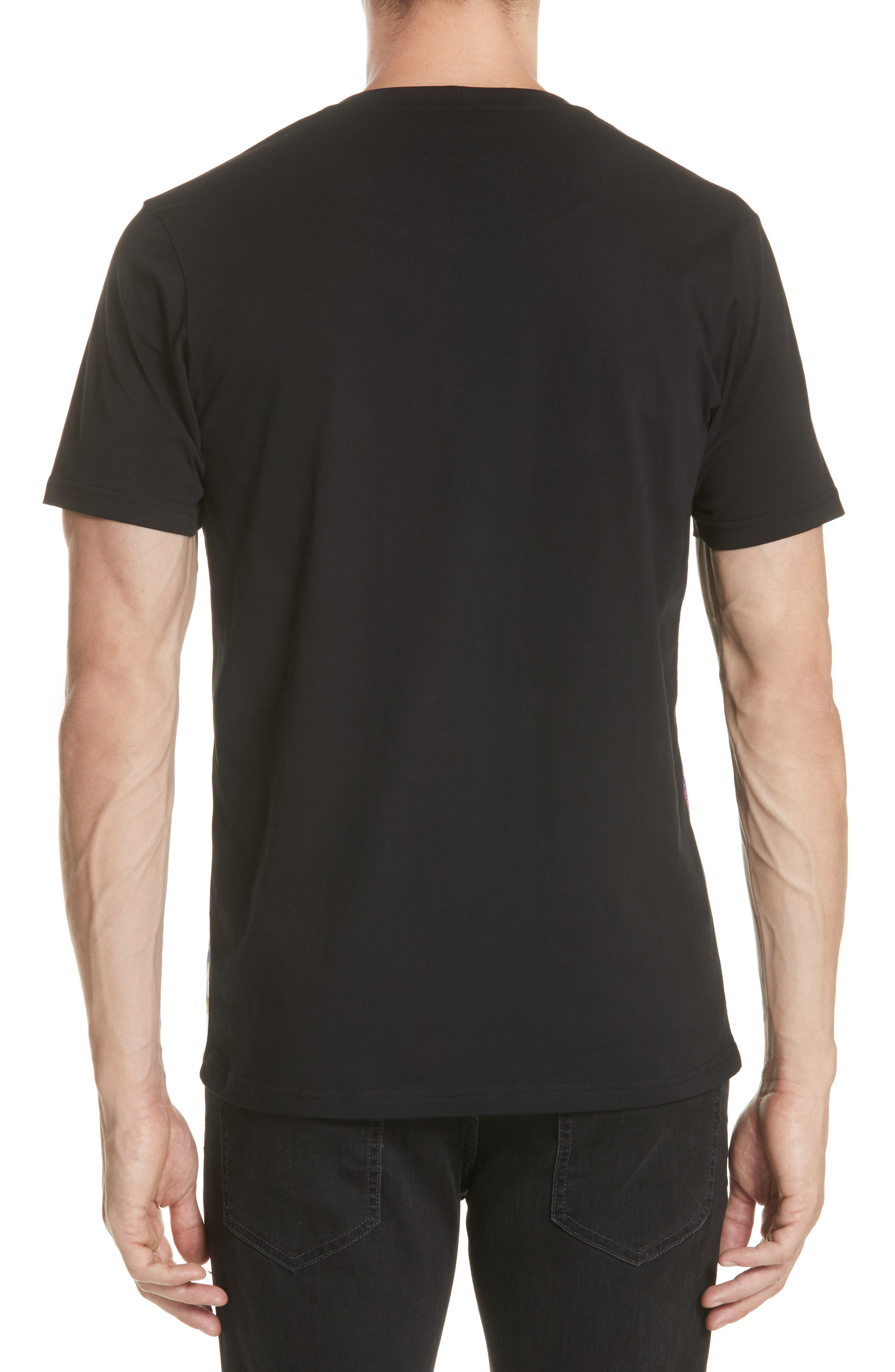 Uomo Print T-Shirt,                             Alternate thumbnail 2, color,                             Black/ Stampa