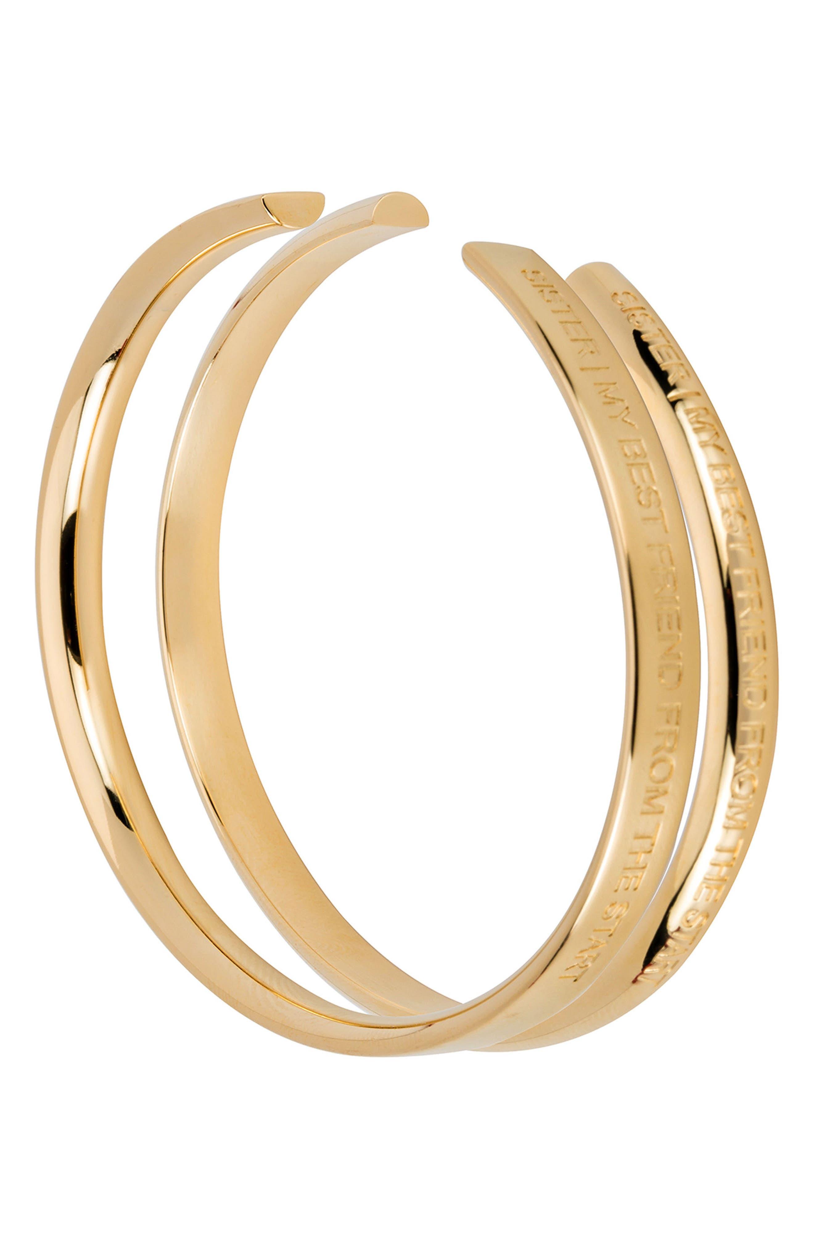 Sister Wrist Cuff,                         Main,                         color, Gold