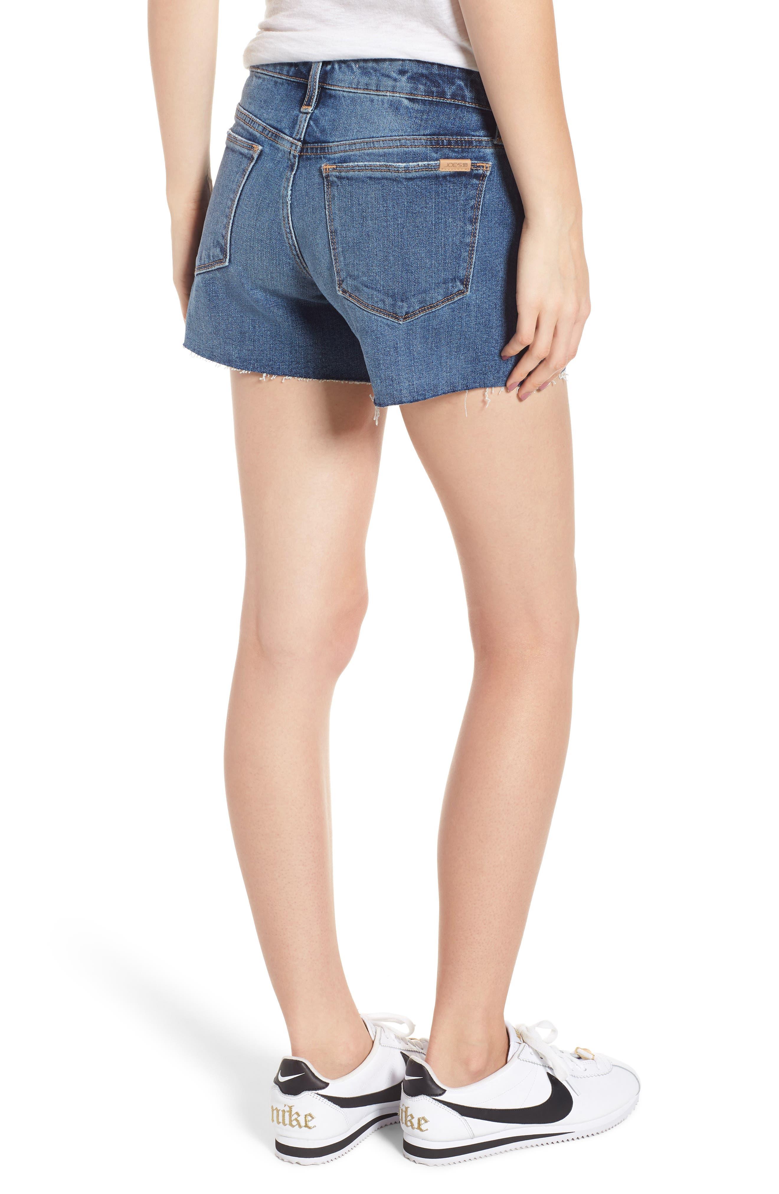 Ozzie Side Stripe Cutoff Shorts,                             Alternate thumbnail 2, color,                             Madera