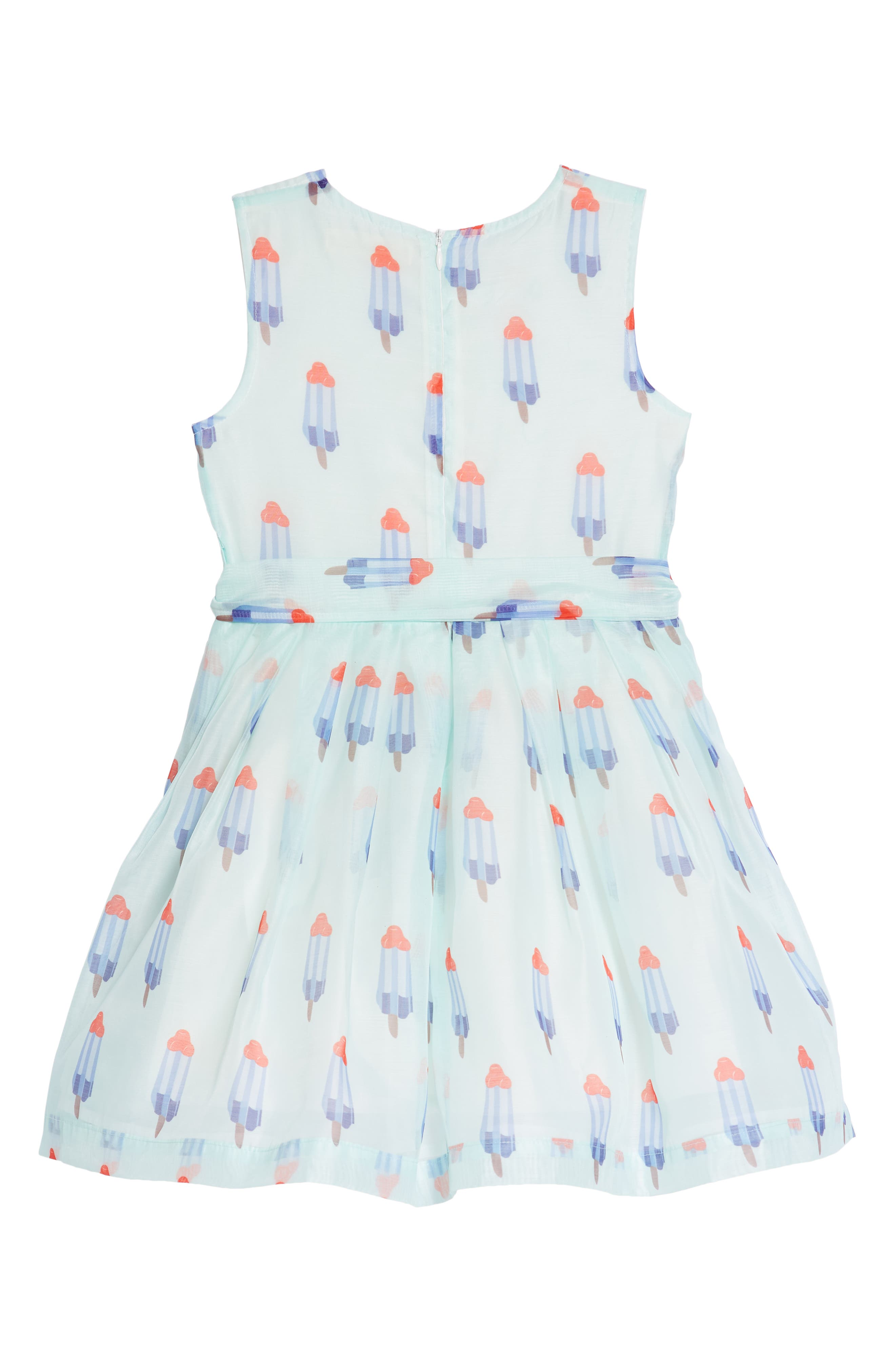 Popsicle Print Fit & Flare Dress,                             Alternate thumbnail 2, color,                             Mint
