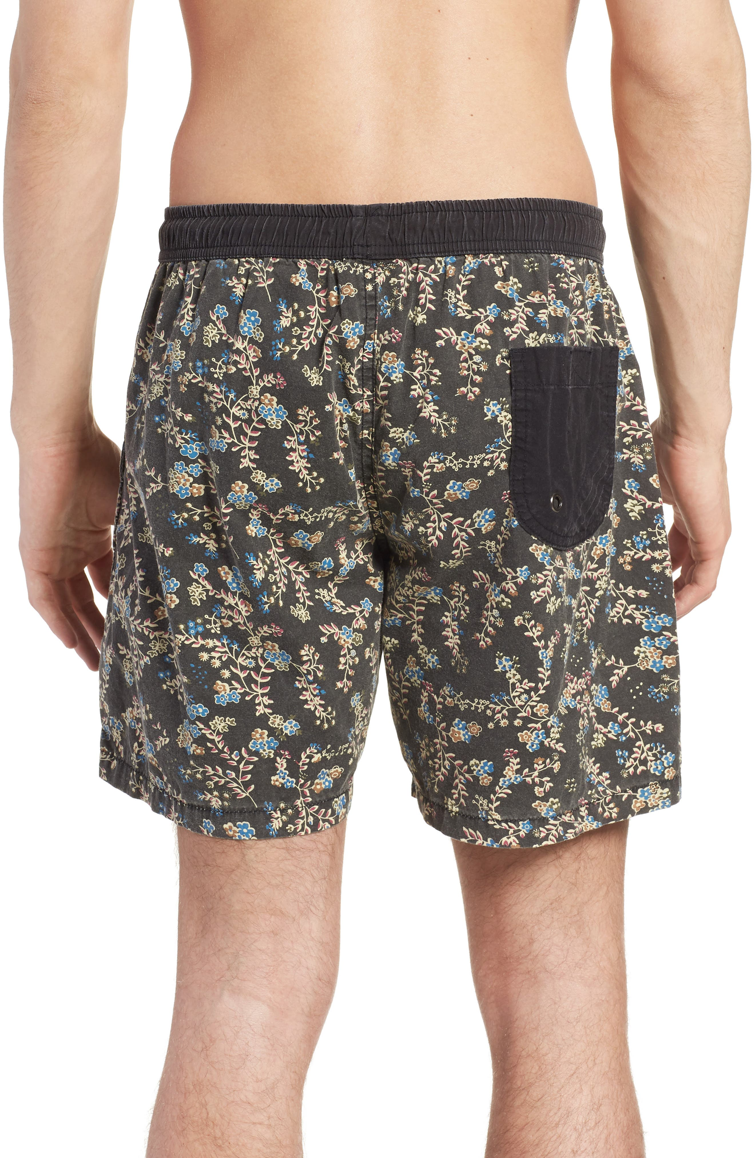 Easy Boardie Swim Trunks,                             Alternate thumbnail 2, color,                             Black Boom