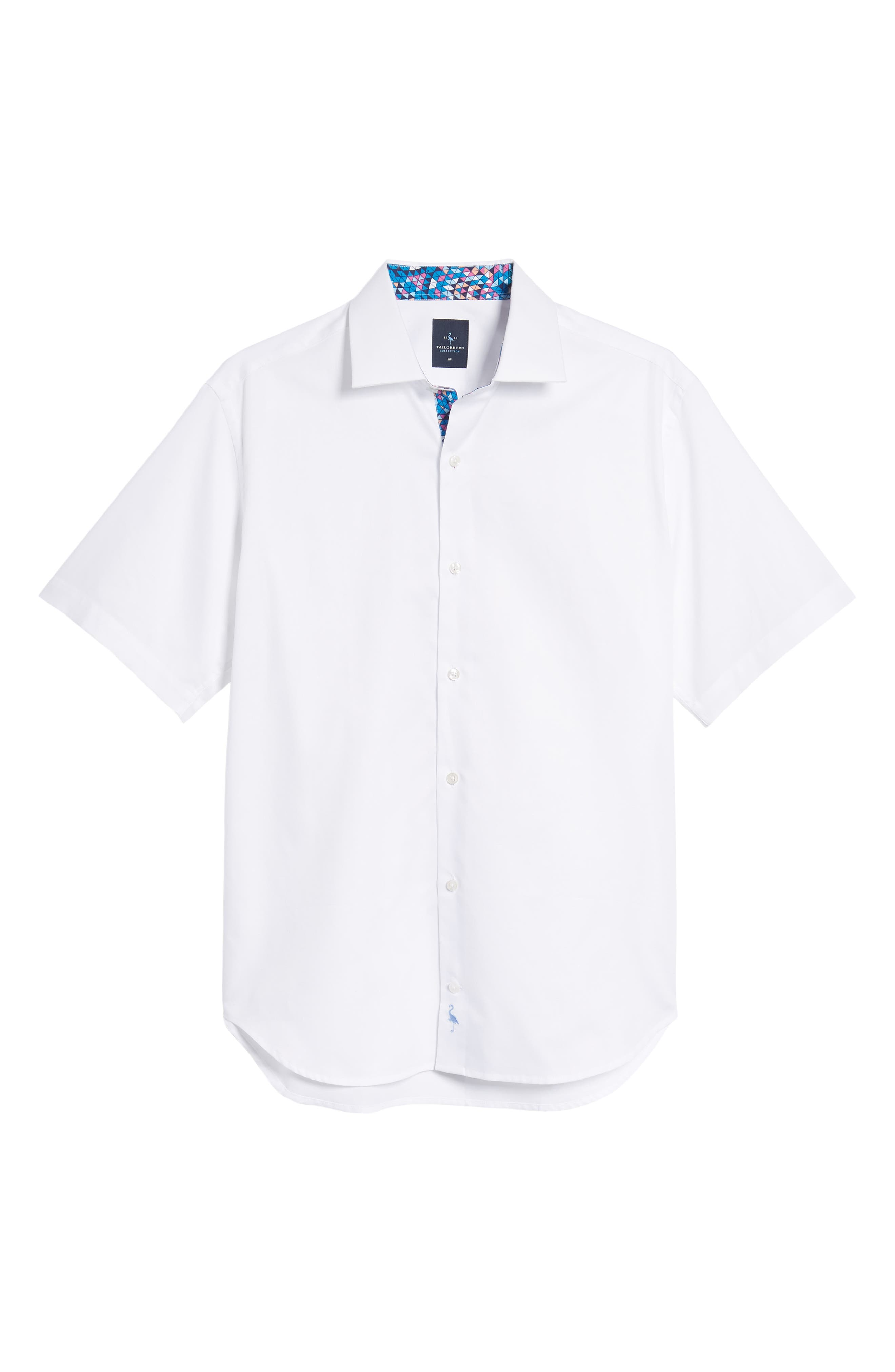Arlen Regular Fit Sport Shirt,                             Alternate thumbnail 6, color,                             White