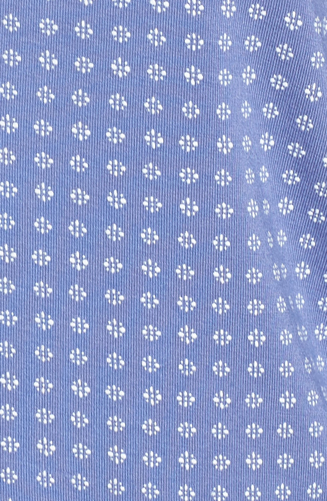 Moonlight Pajamas,                             Alternate thumbnail 5, color,                             Blue Denim Geo