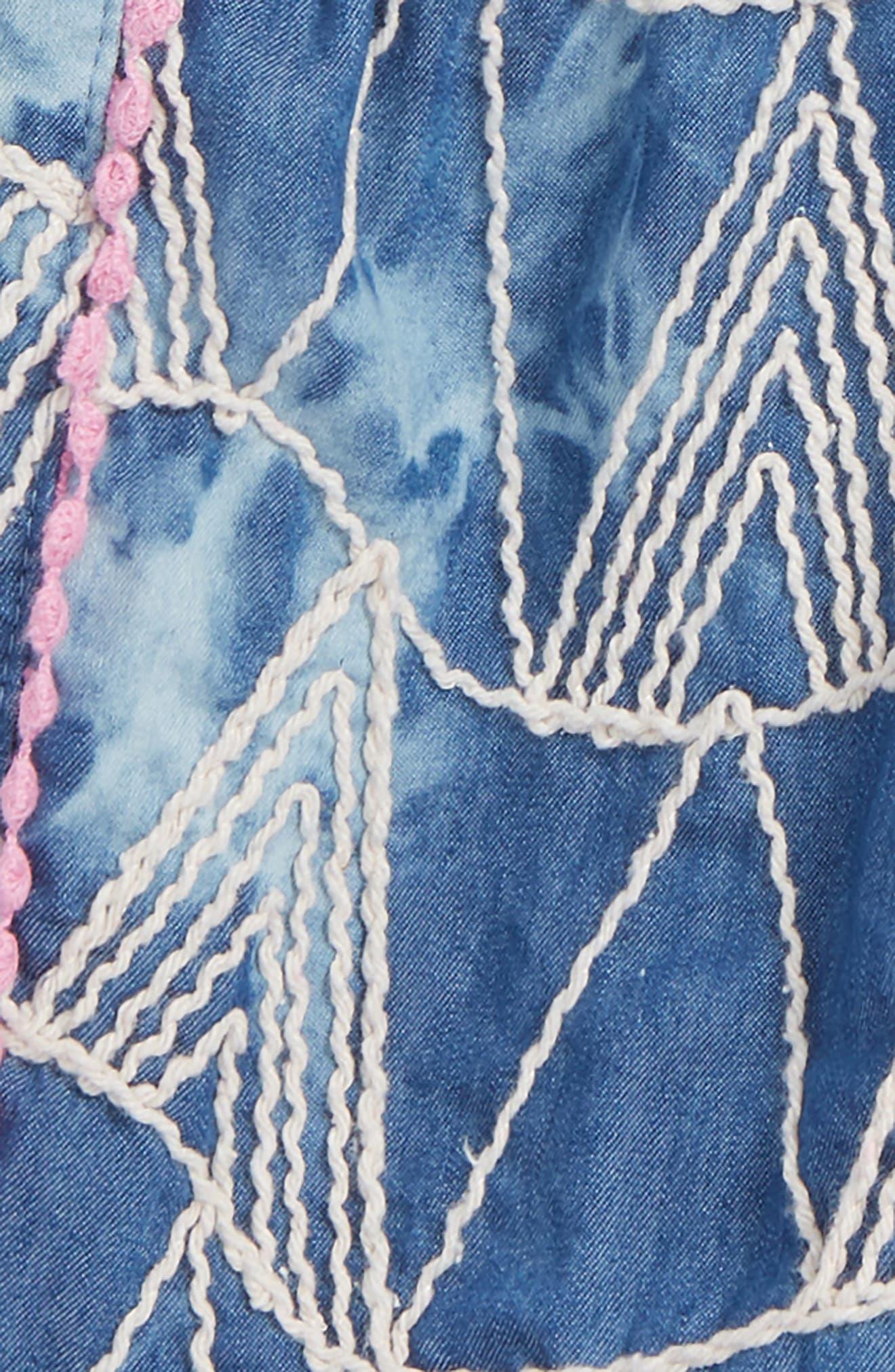 Mikki Miette Joi Embroidered Shorts,                             Alternate thumbnail 2, color,                             Sayulita