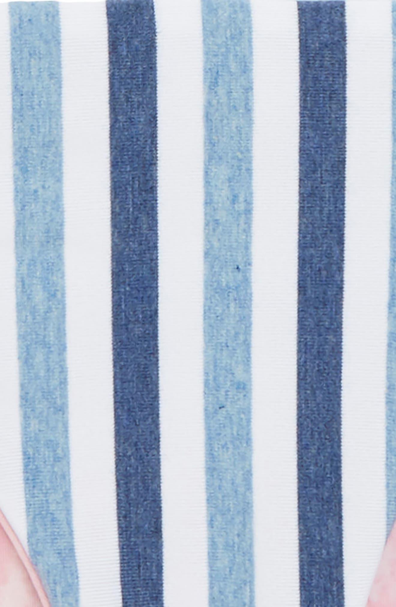 Reversible Tie Dye & Stripe Two-Piece Swimsuit,                             Alternate thumbnail 3, color,                             Blue
