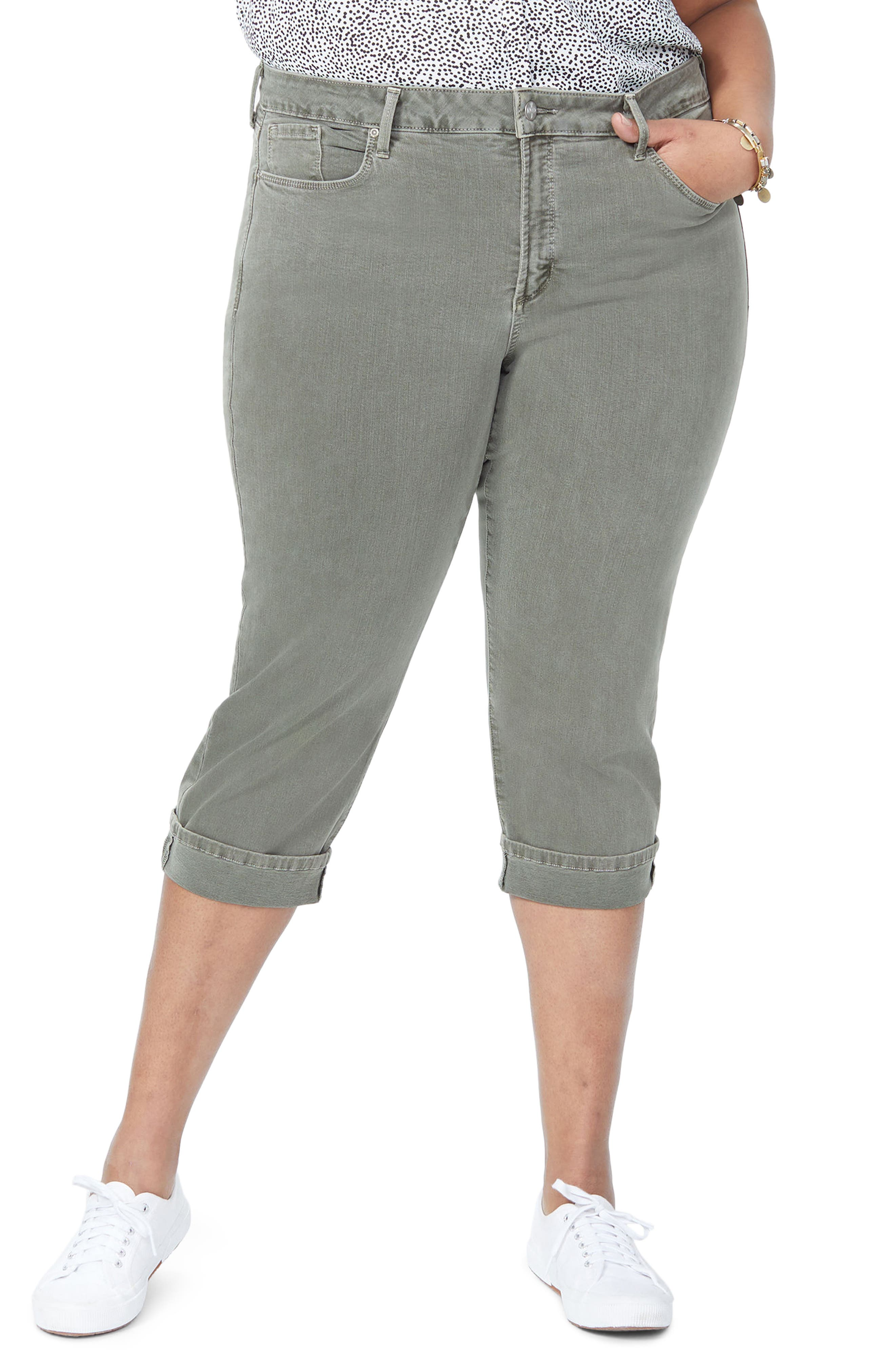 Marilyn Crop Cuff Jeans,                         Main,                         color, Topiary