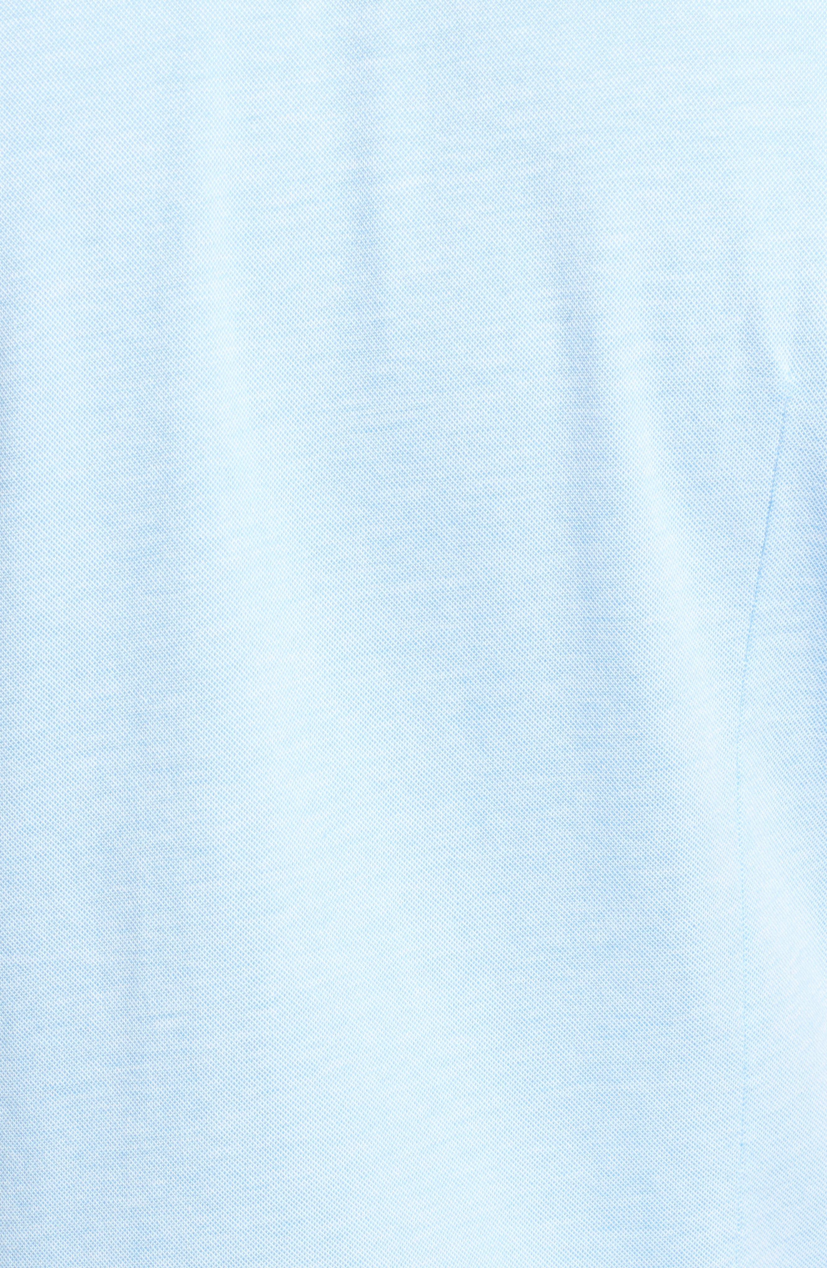 Robb Slim Fit Short Sleeve Sport Shirt,                             Alternate thumbnail 5, color,                             Light Blue