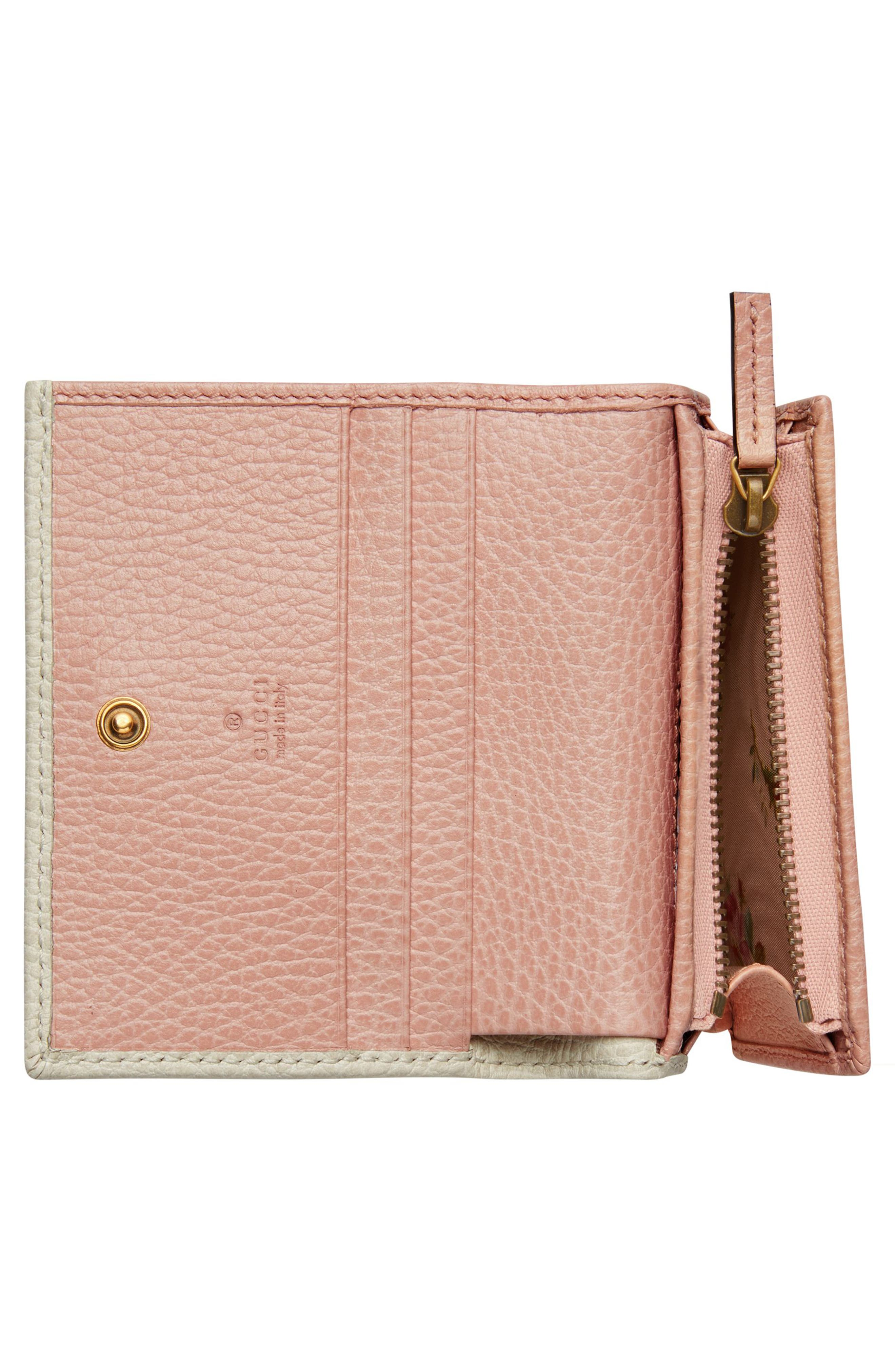 Fiocchino Leather Card Case,                             Alternate thumbnail 2, color,                             Mystic White/ Pink/ Crystal