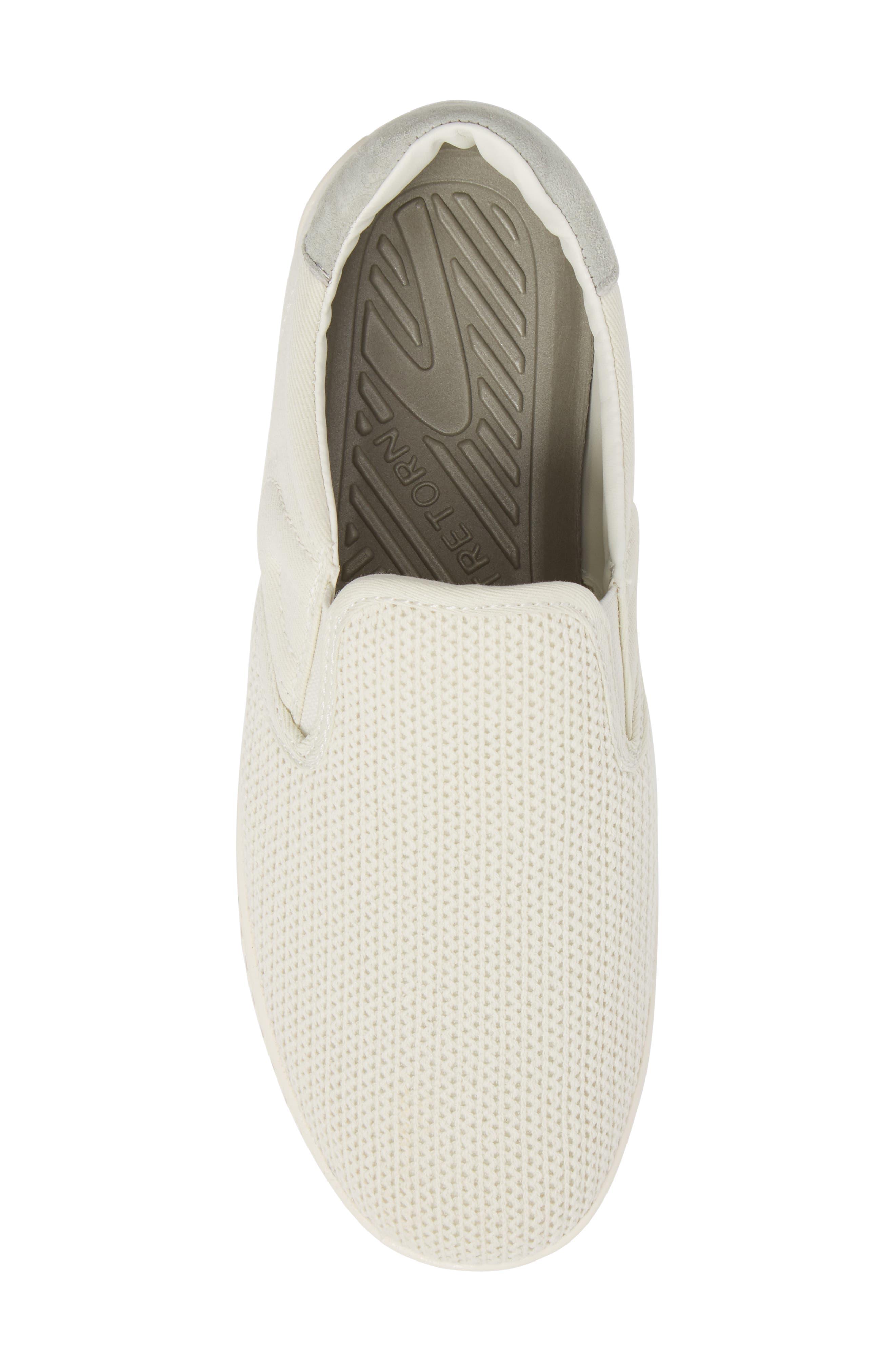 Cruz Mesh Slip-On Sneaker,                             Alternate thumbnail 5, color,                             Vintage White