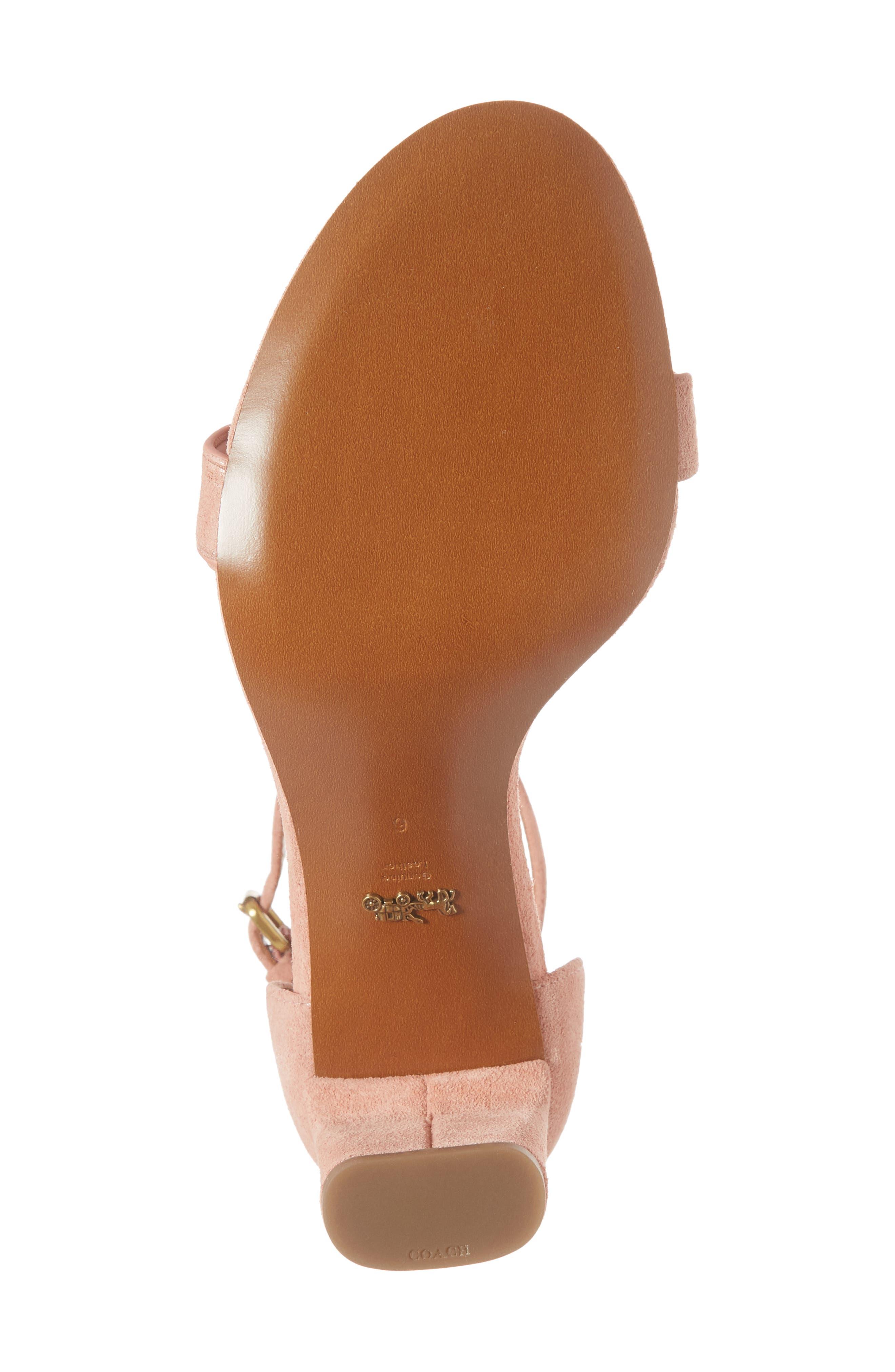 Link Strap Sandal,                             Alternate thumbnail 7, color,                             Peony Leather