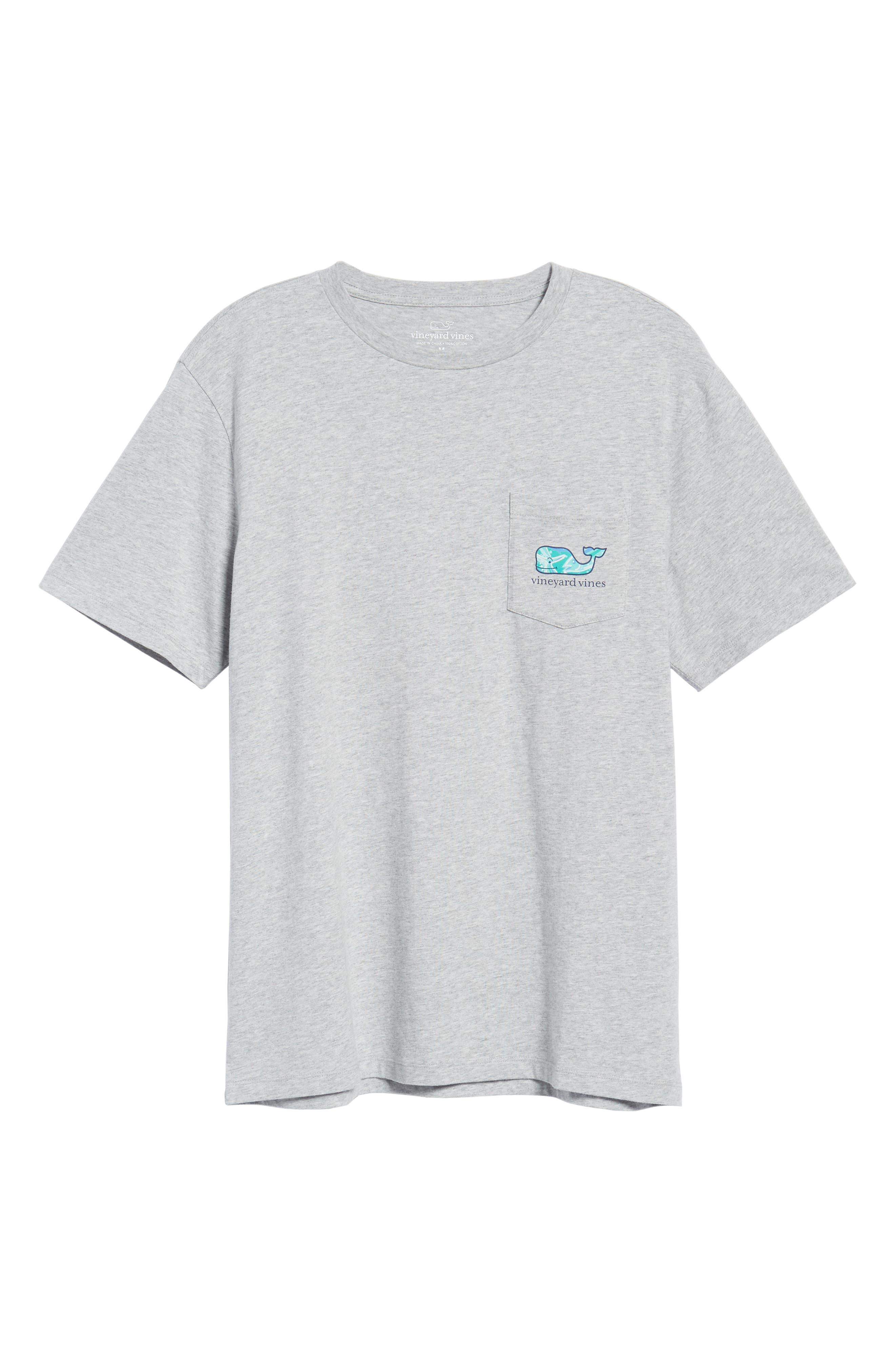 School of Tuna Regular Fit Pocket T-Shirt,                             Alternate thumbnail 6, color,                             Gray Heather