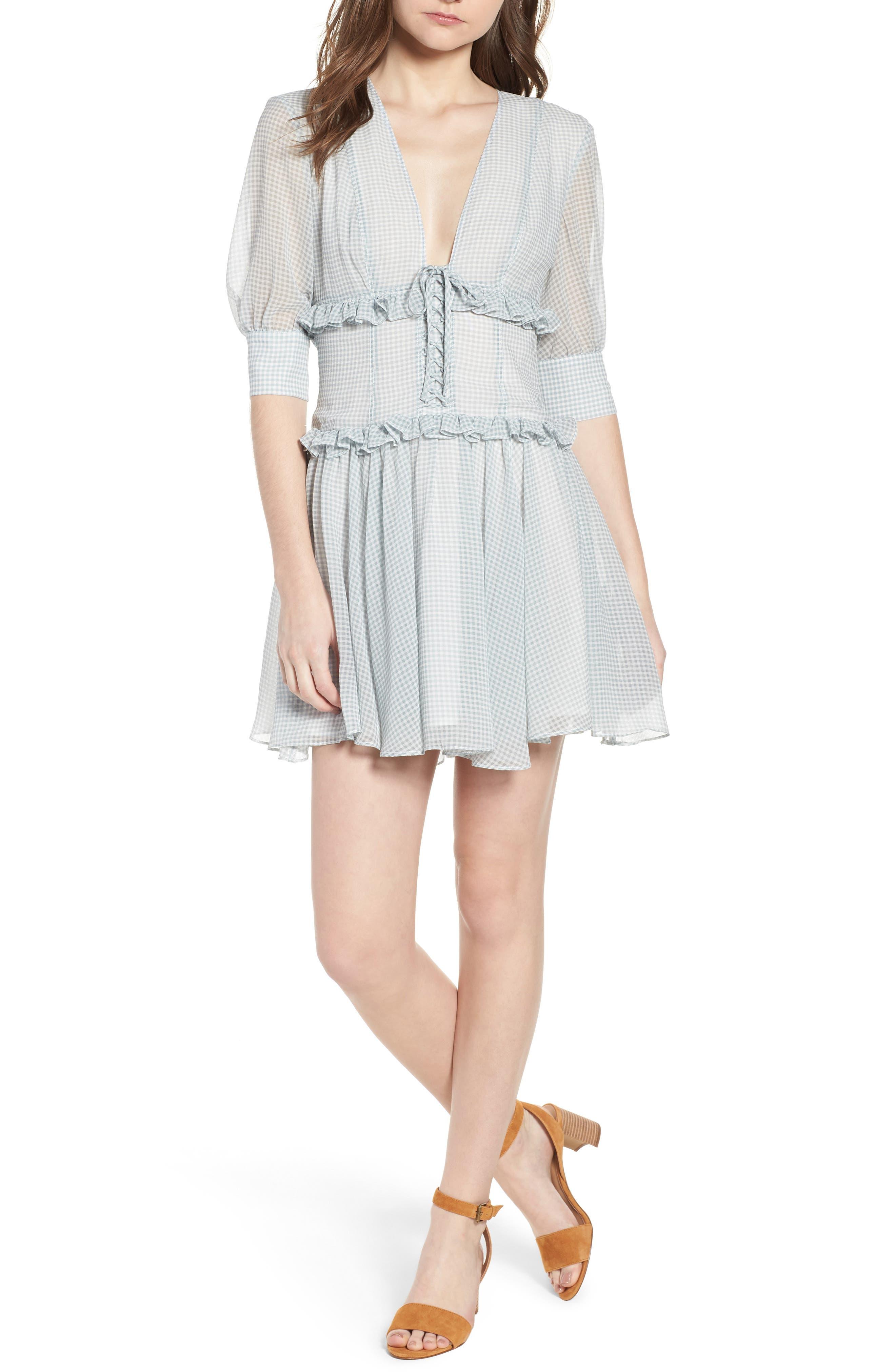 Willa Minidress,                         Main,                         color, June Bug Check