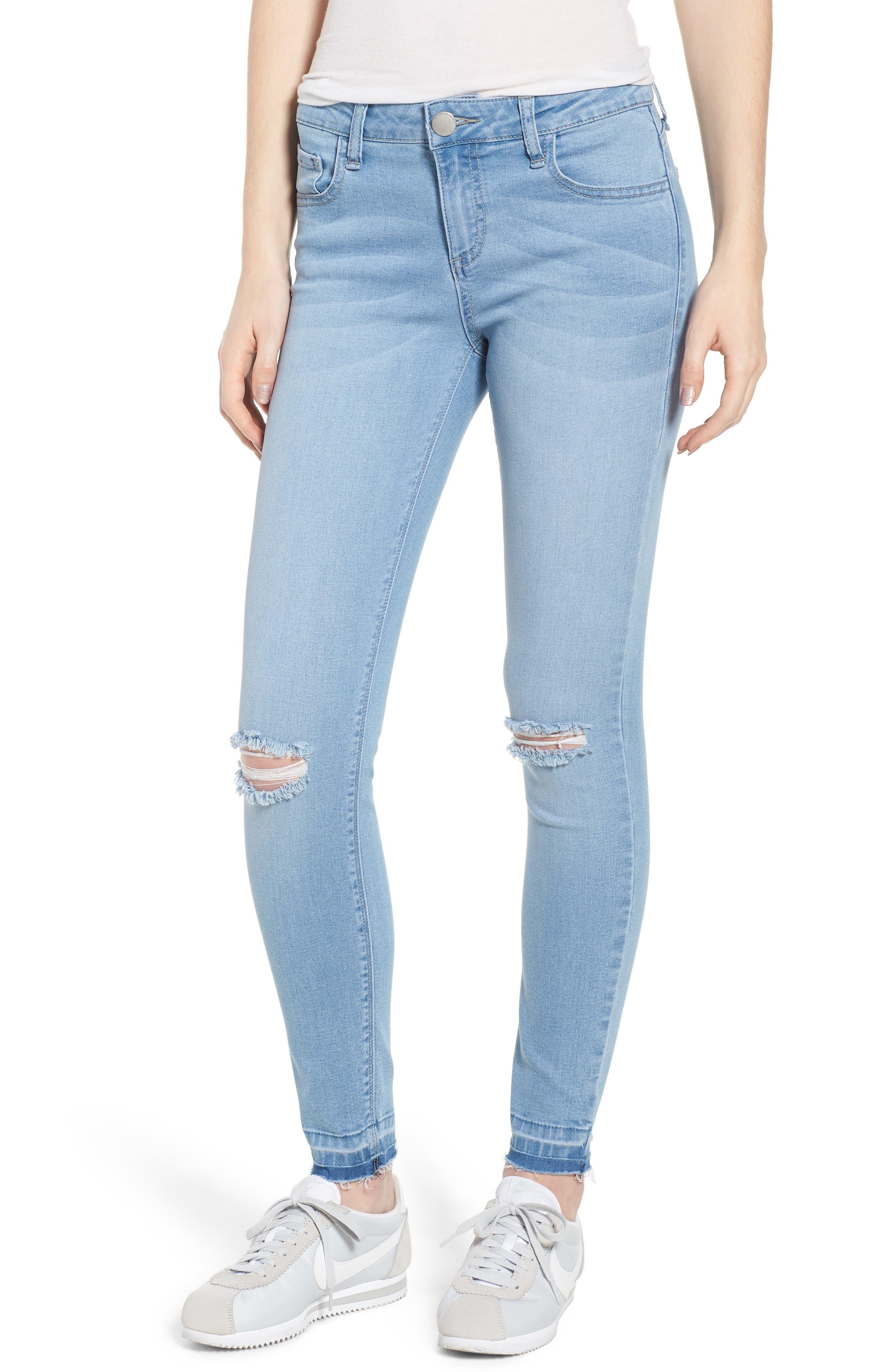 Release Hem Skinny Jeans,                         Main,                         color, Ashley