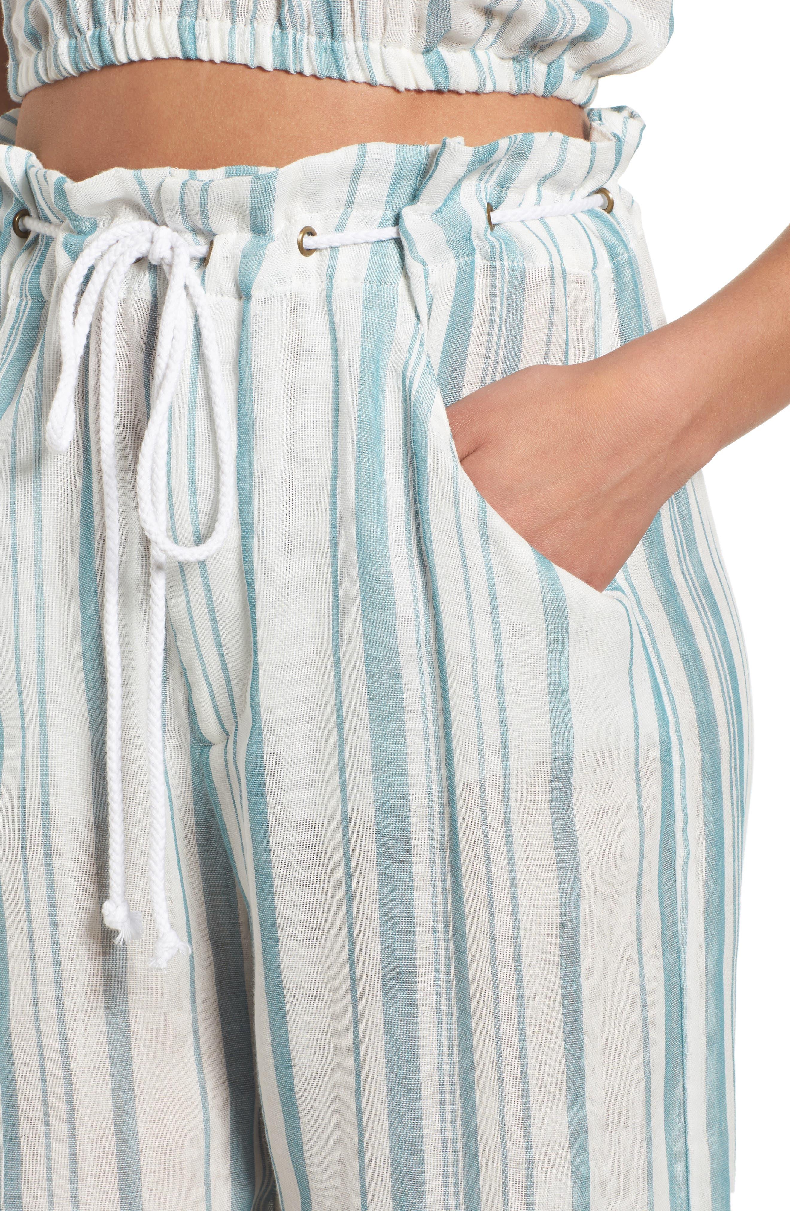 Peterson Wide Leg Pants,                             Alternate thumbnail 7, color,                             Point Dume Stripe