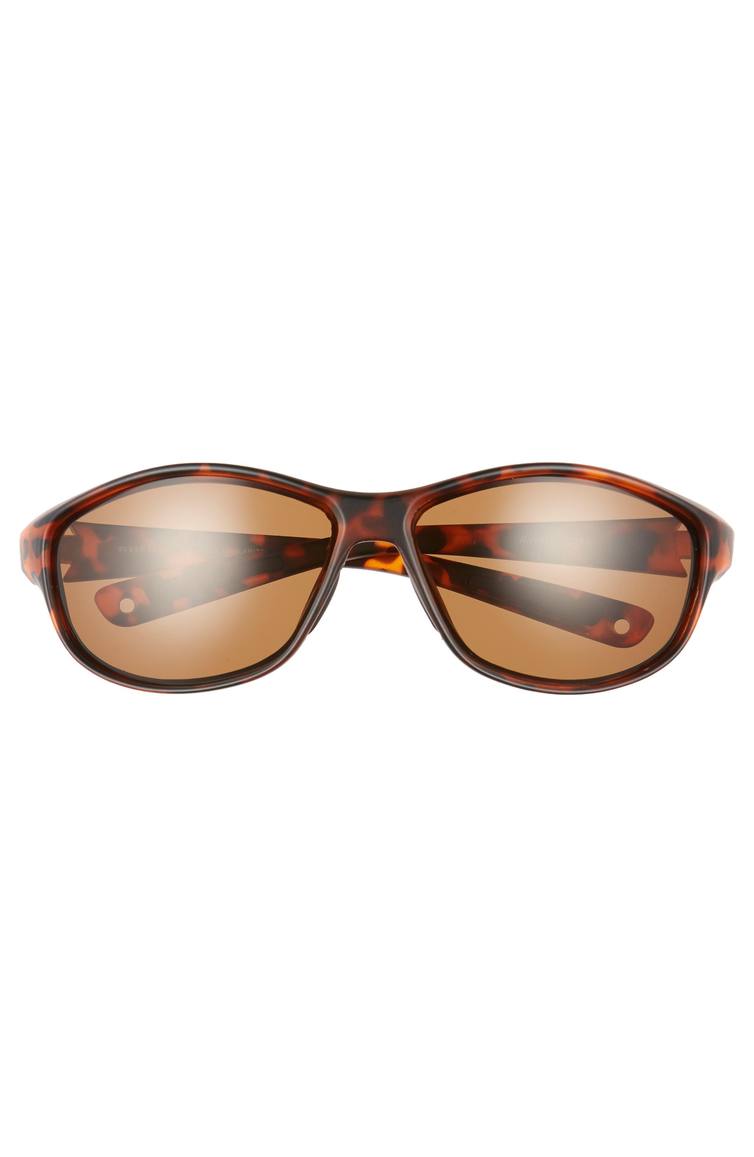Bahias Floating 60mm Polarized Sunglasses,                             Alternate thumbnail 2, color,                             Tortoise / Amber