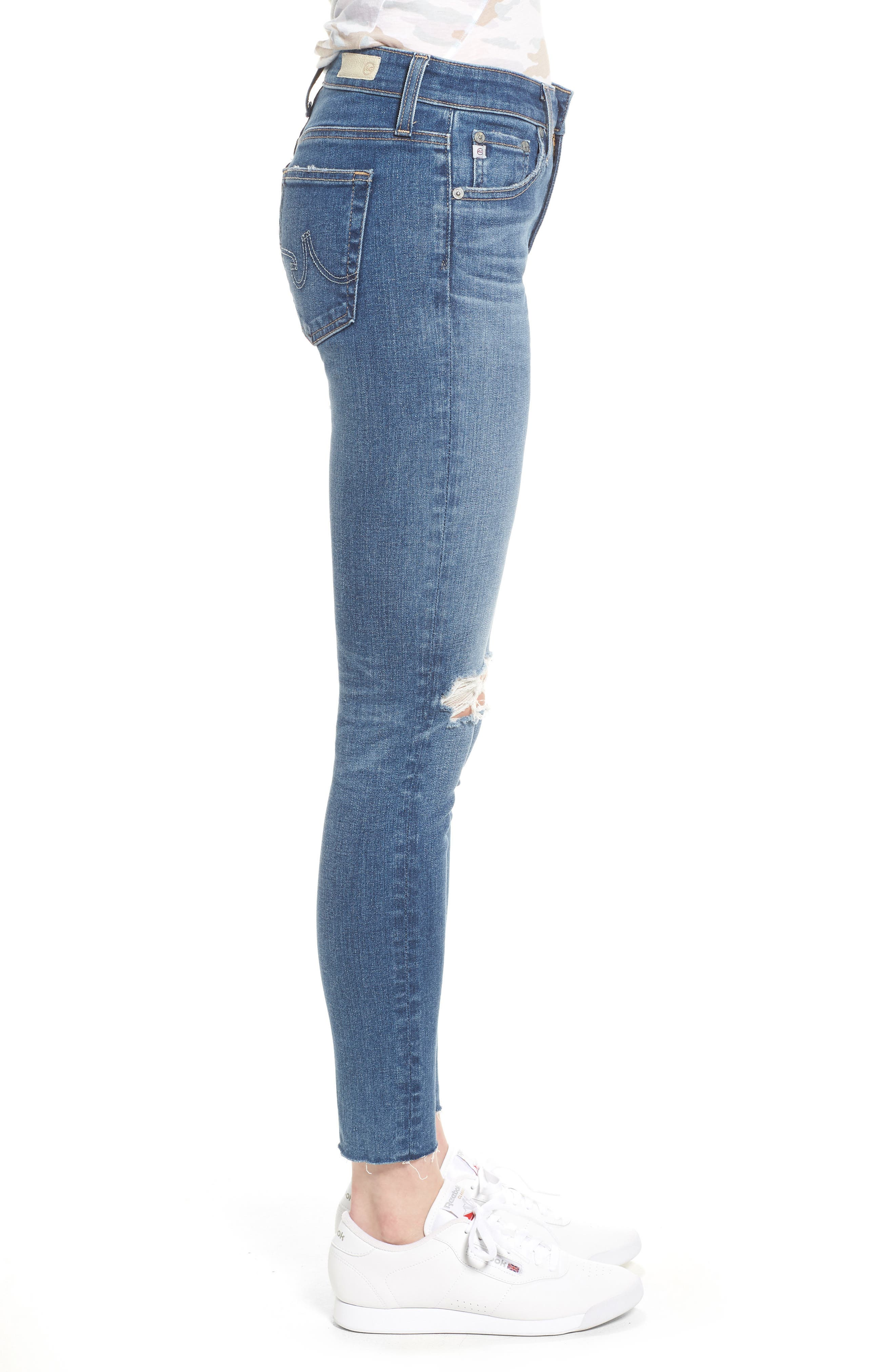The Farrah High Waist Ankle Skinny Jeans,                             Alternate thumbnail 3, color,                             13 Year Saltwater