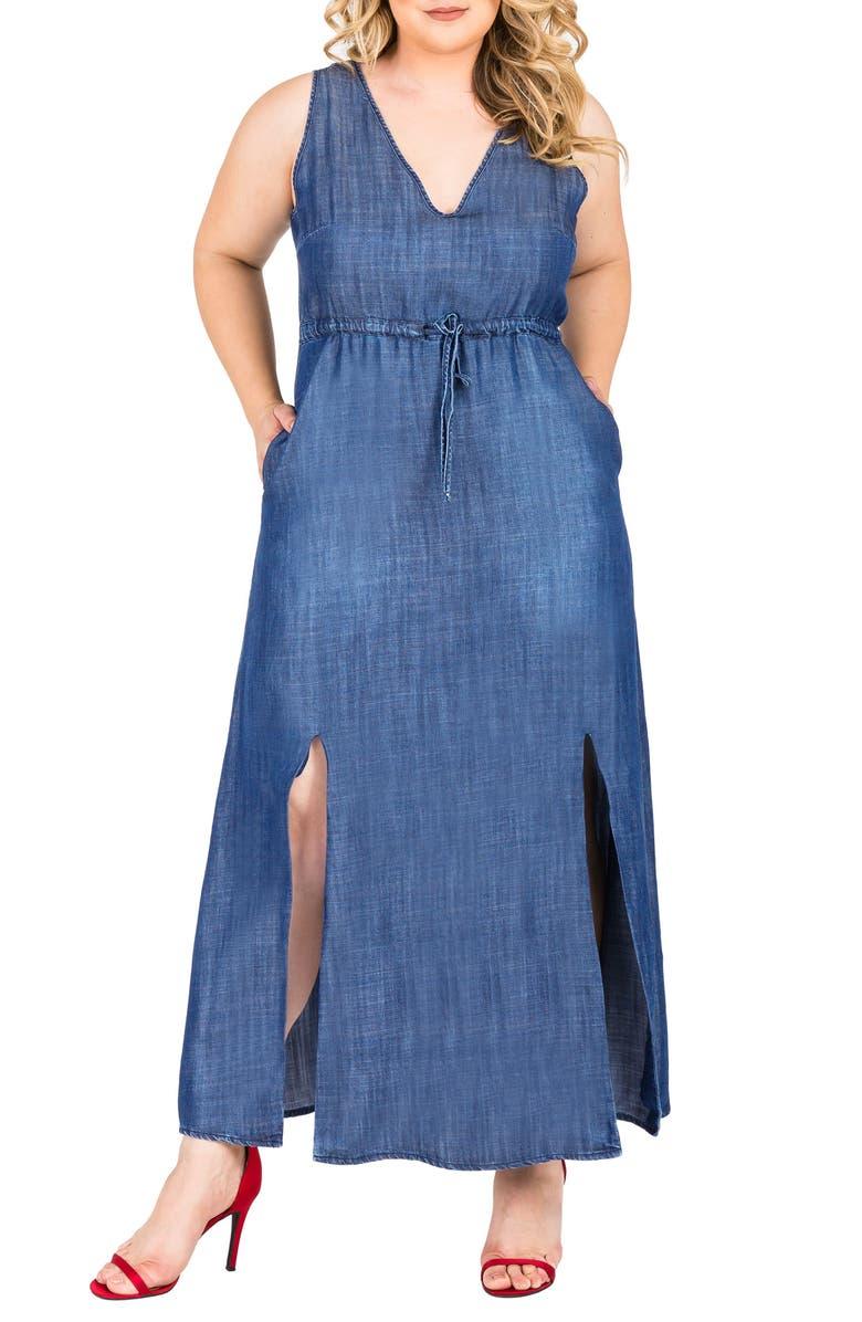 Amber Maxi Chambray Dress