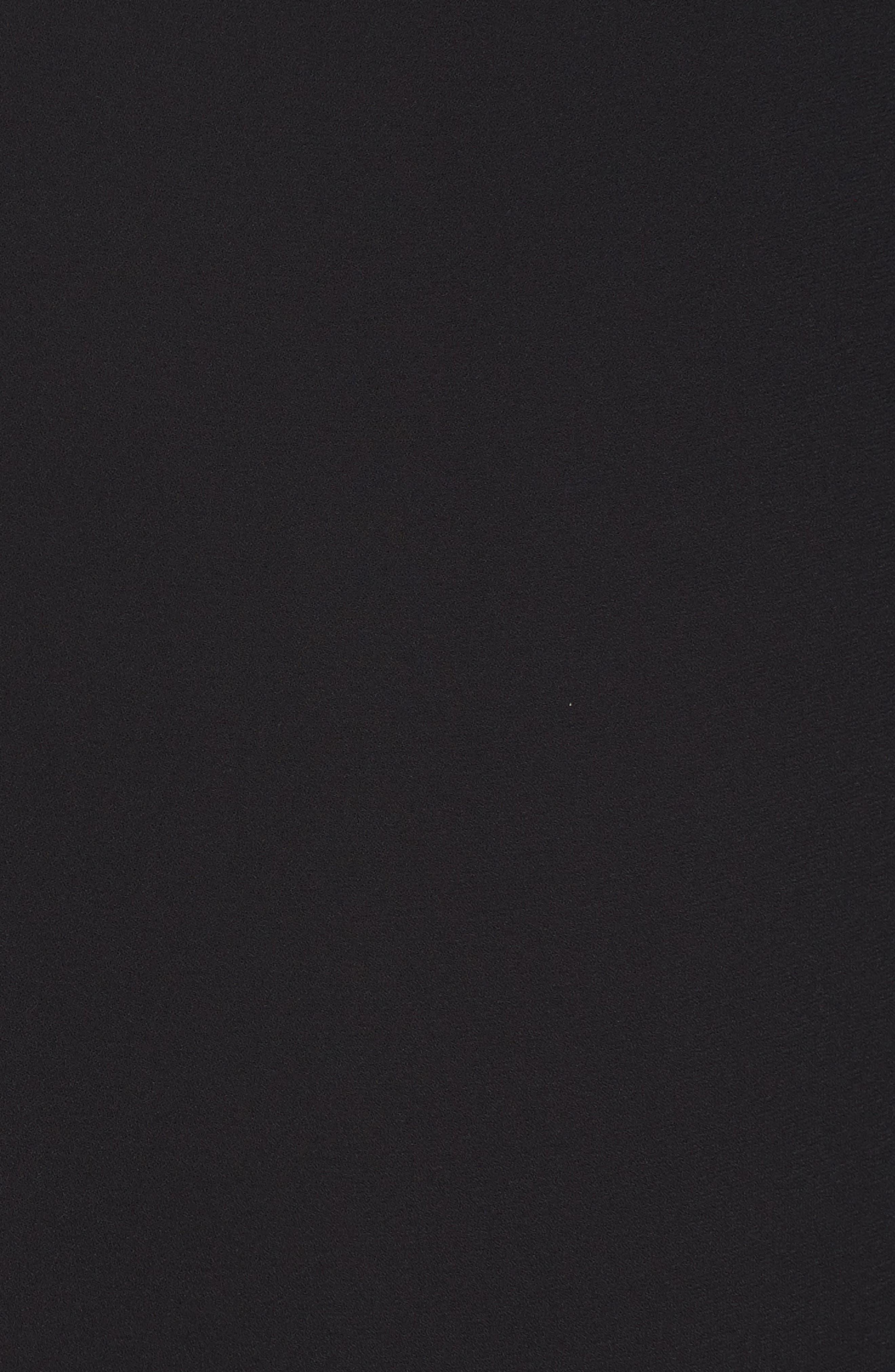 Flutter Sleeve Dress,                             Alternate thumbnail 6, color,                             Black