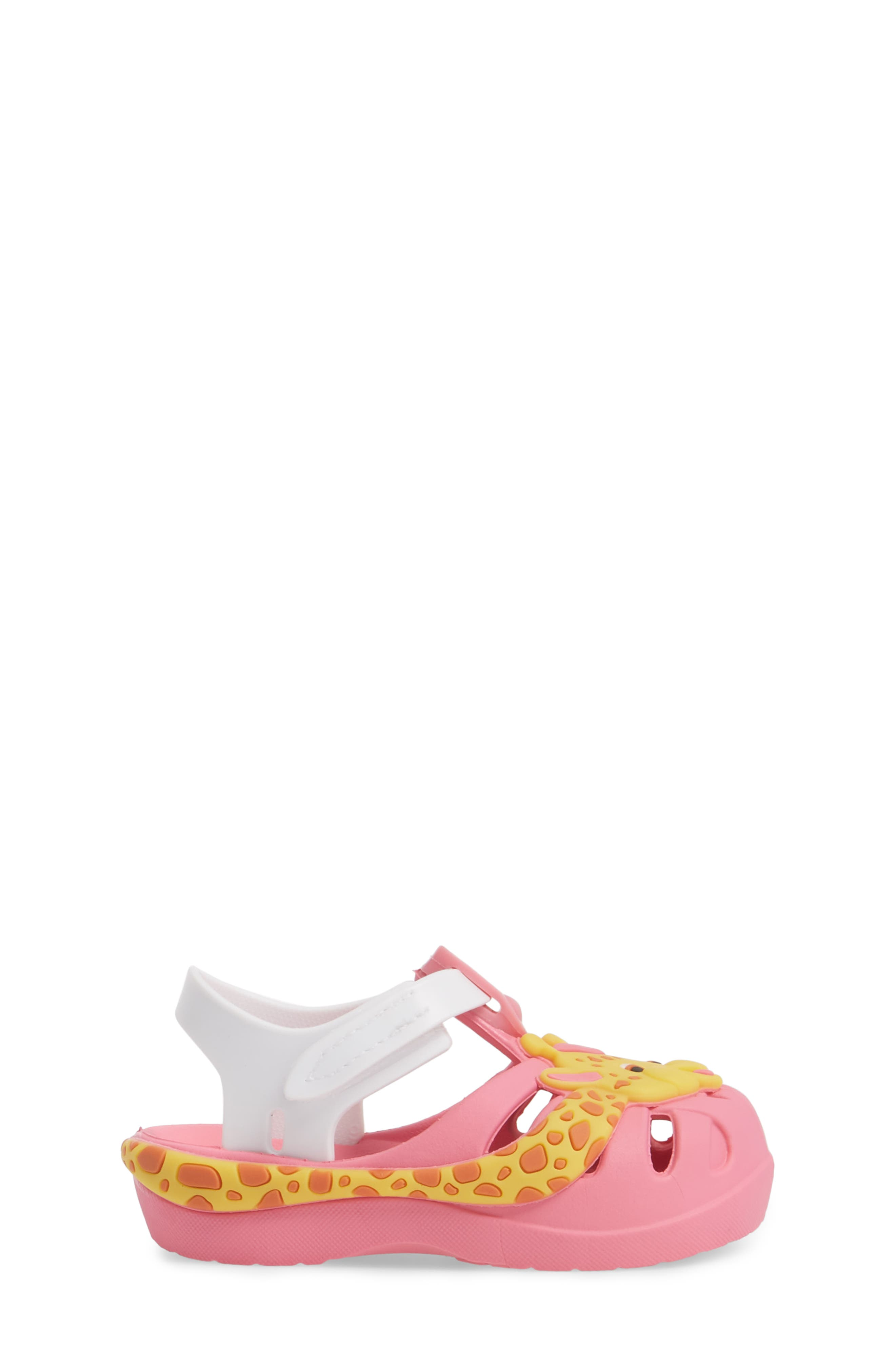 Summer Baby Waterproof Sandal,                             Alternate thumbnail 3, color,                             Pink/ White