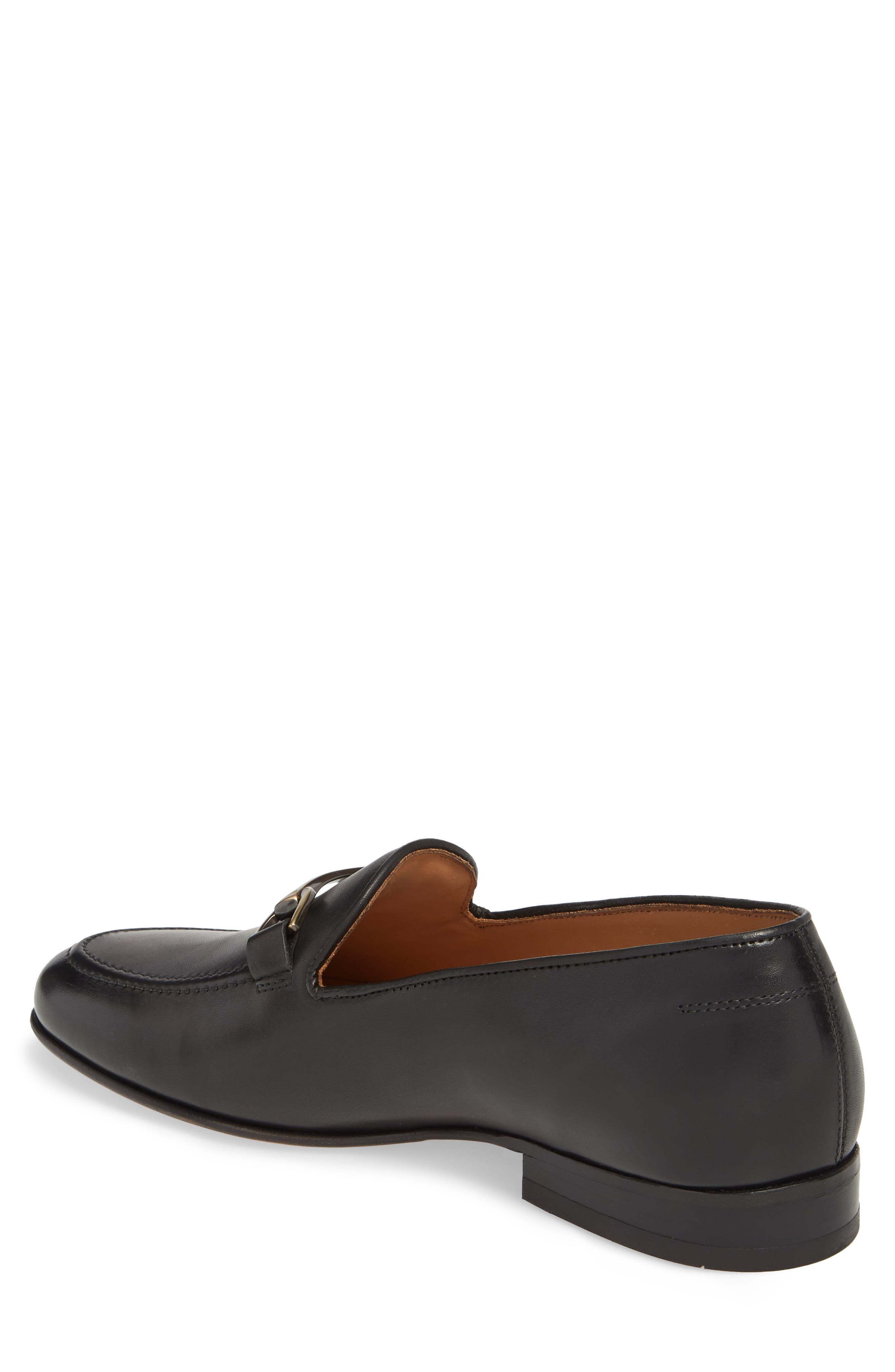 'Borcelo' Bit Loafer,                             Alternate thumbnail 2, color,                             Black Leather