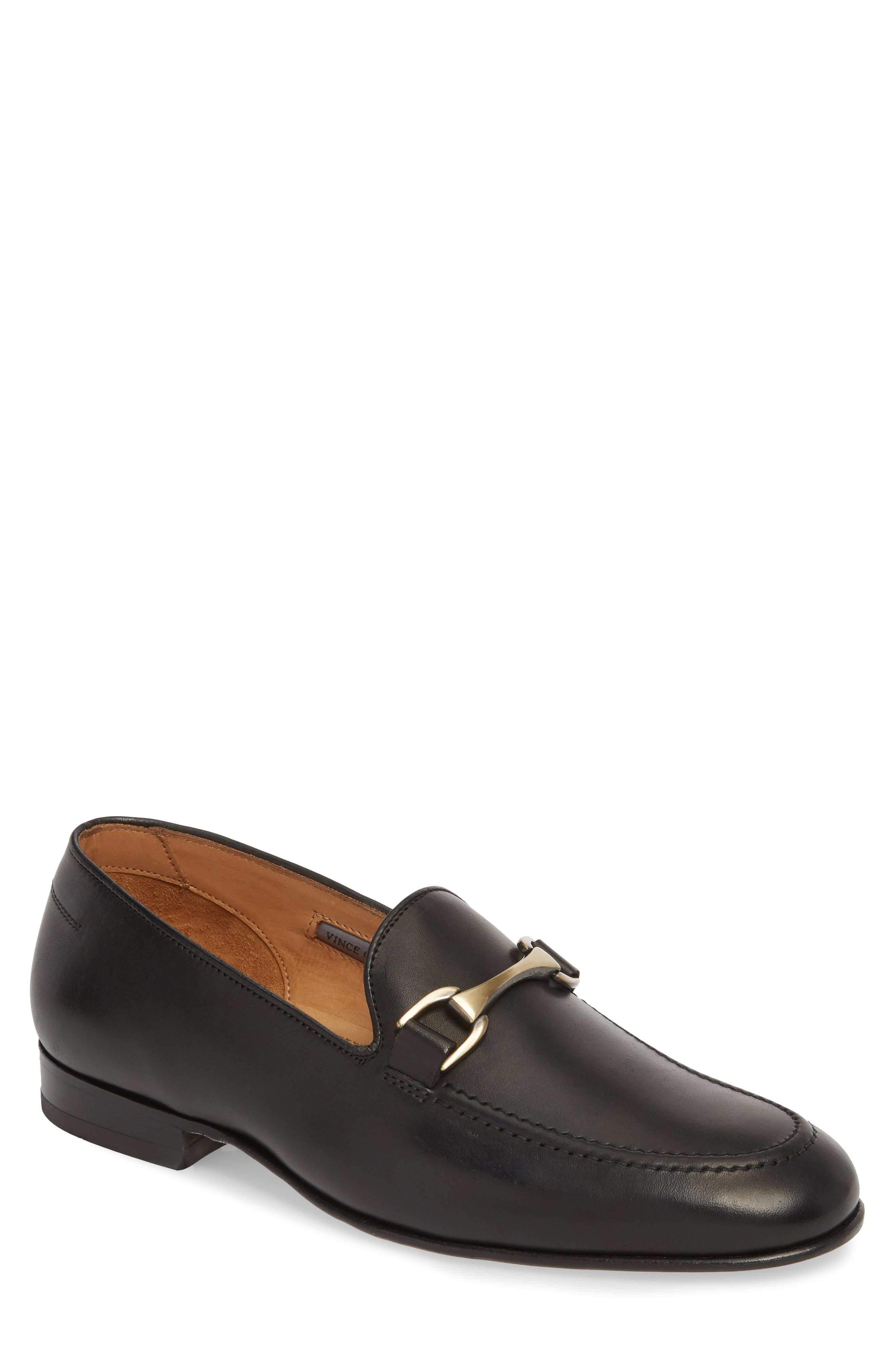 'Borcelo' Bit Loafer,                         Main,                         color, Black Leather