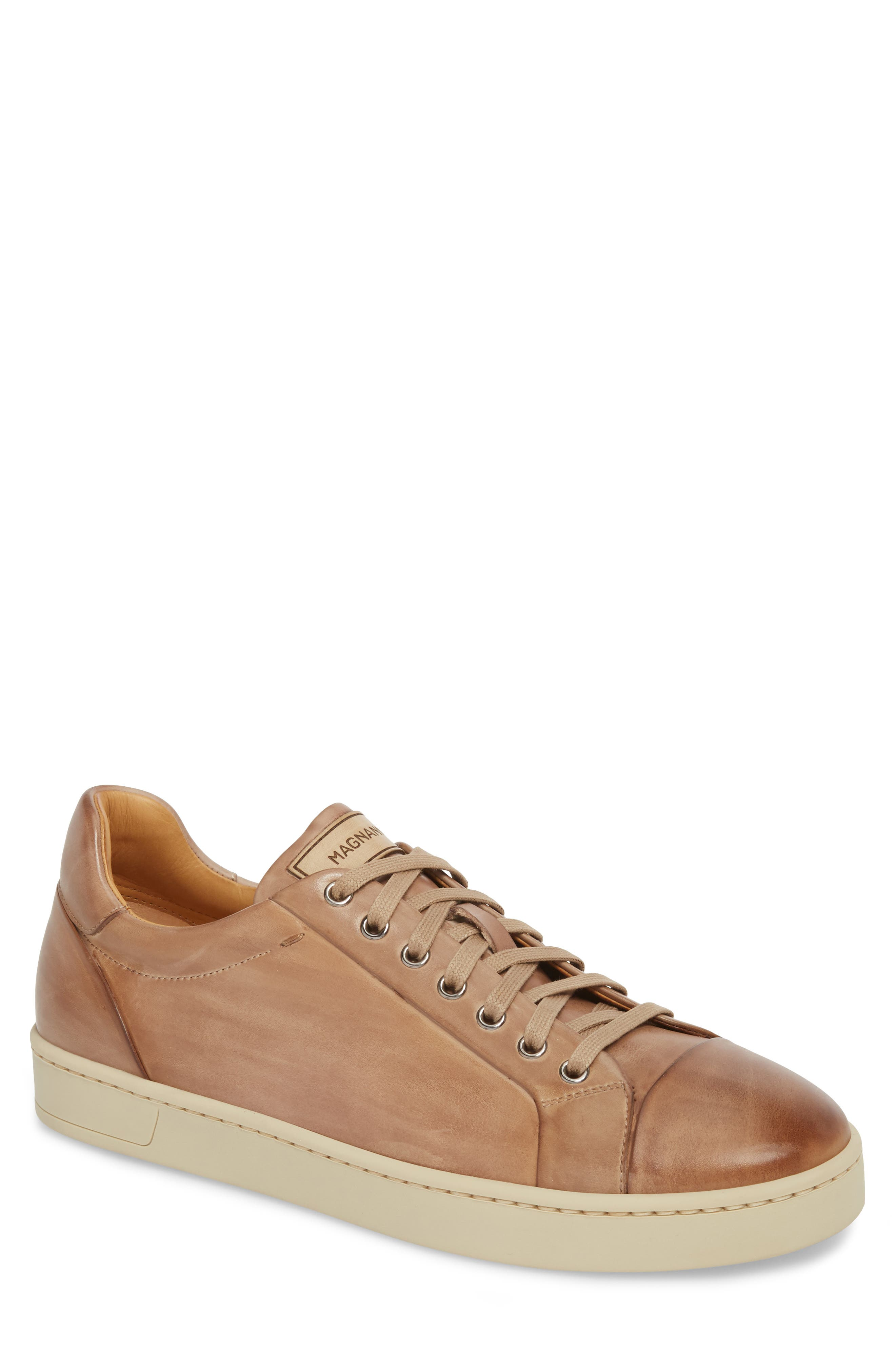 Erardo Low Top Sneaker,                         Main,                         color, Taupe/ Taupe Leather